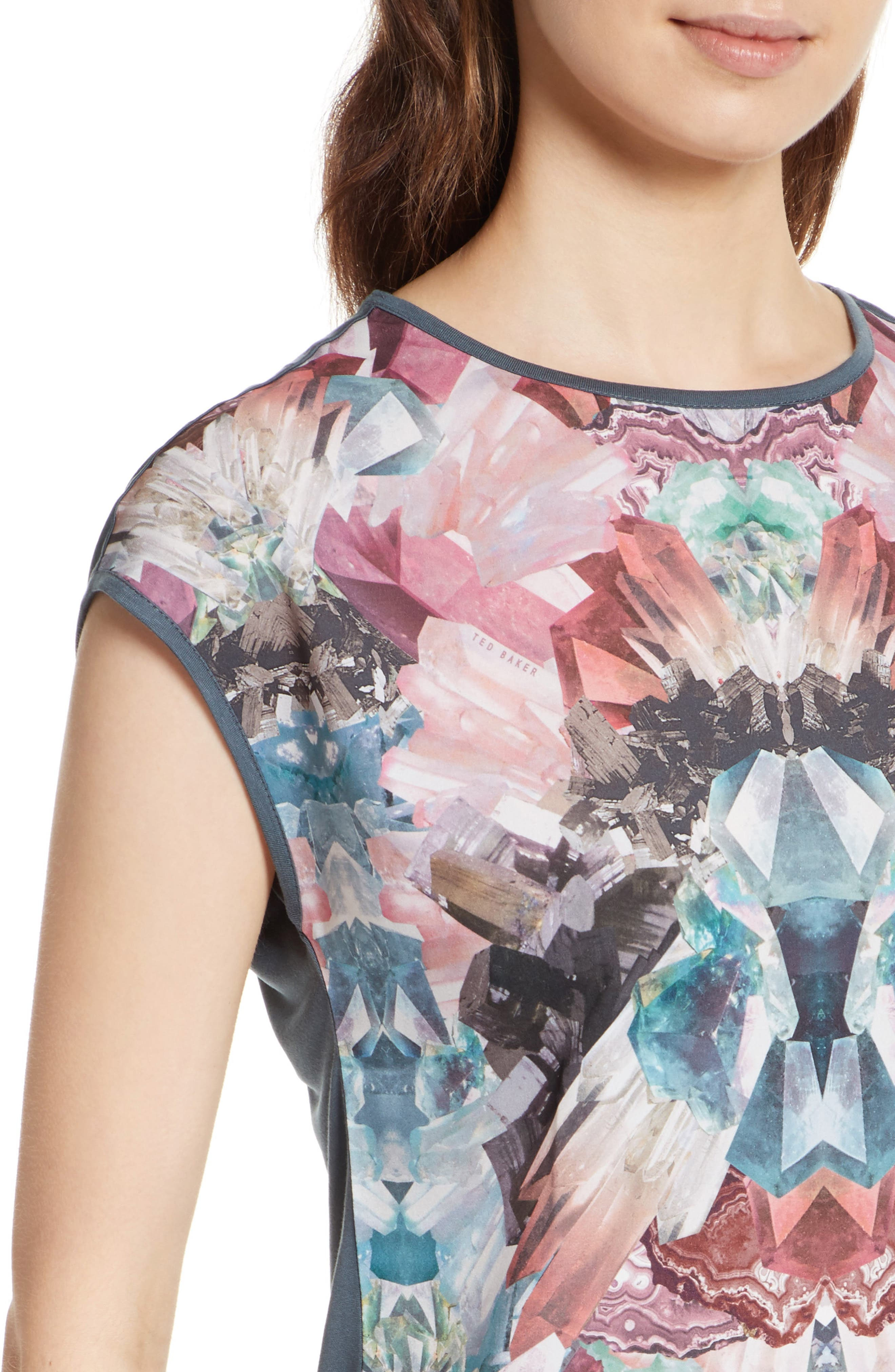 Mirrored Minerals Mixed Media Tee,                             Alternate thumbnail 4, color,                             021