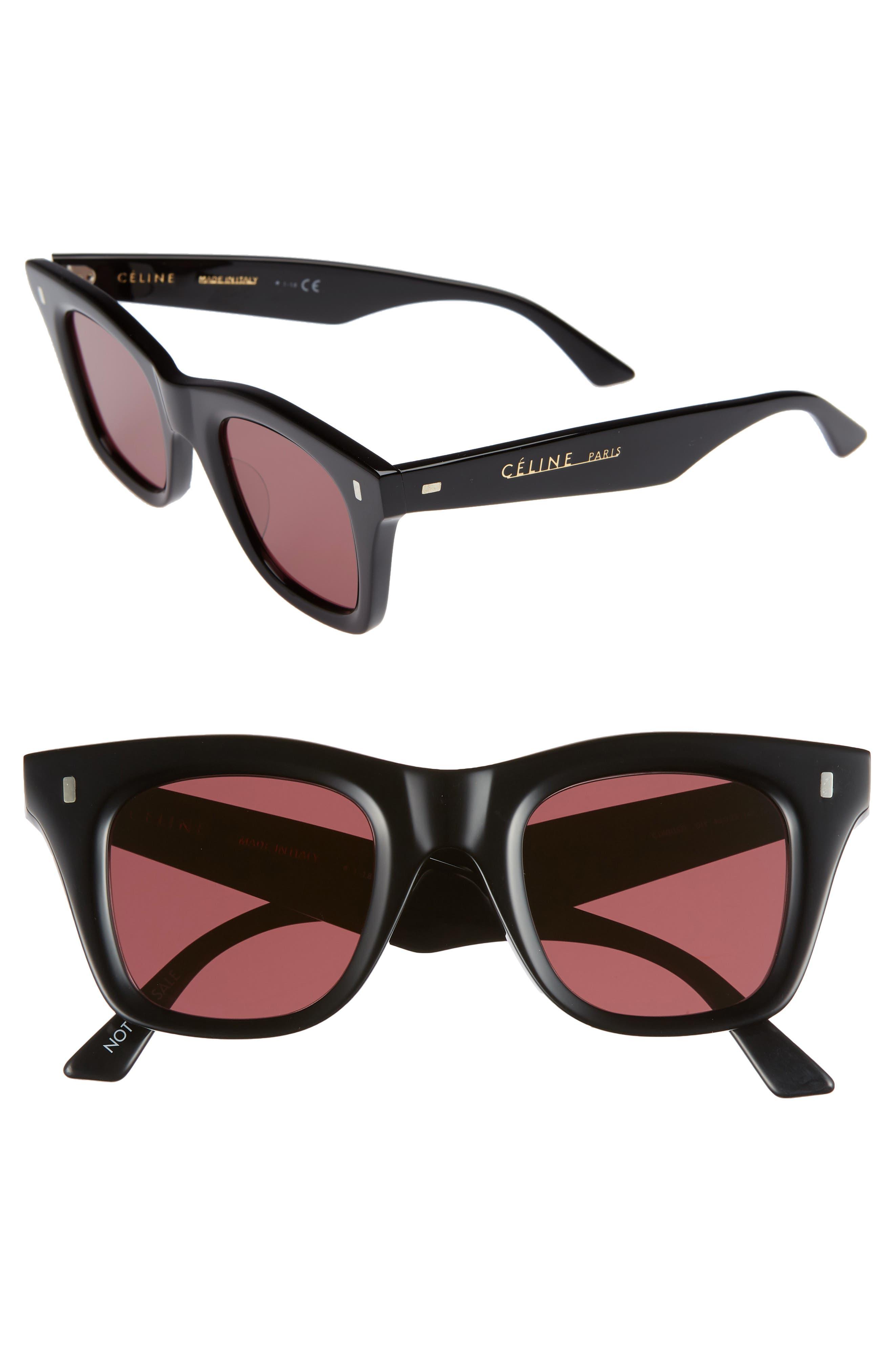 46Mm Square Sunglasses - Black