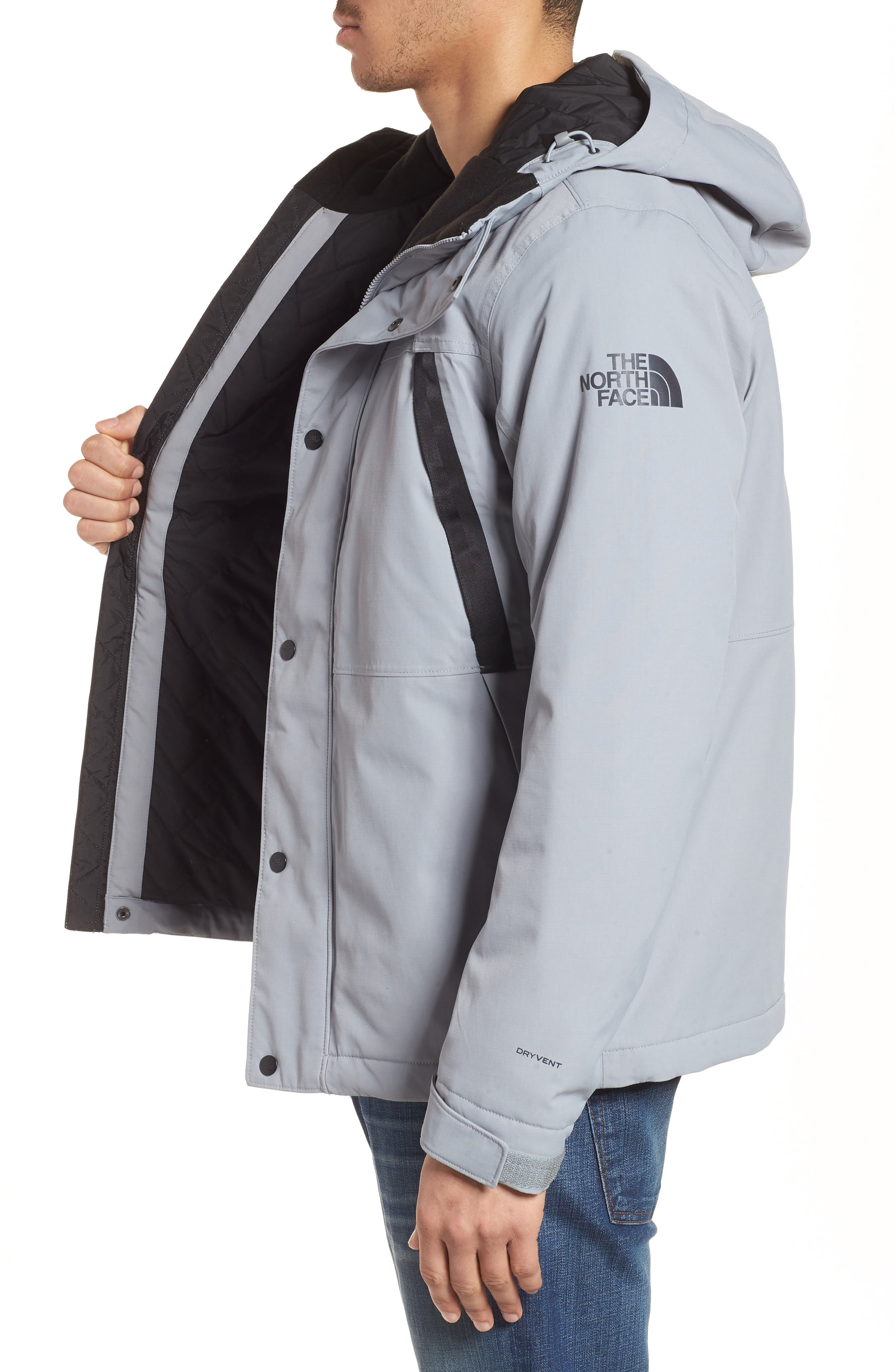 Stetler Insulated Rain Jacket,                             Alternate thumbnail 3, color,                             MID GREY