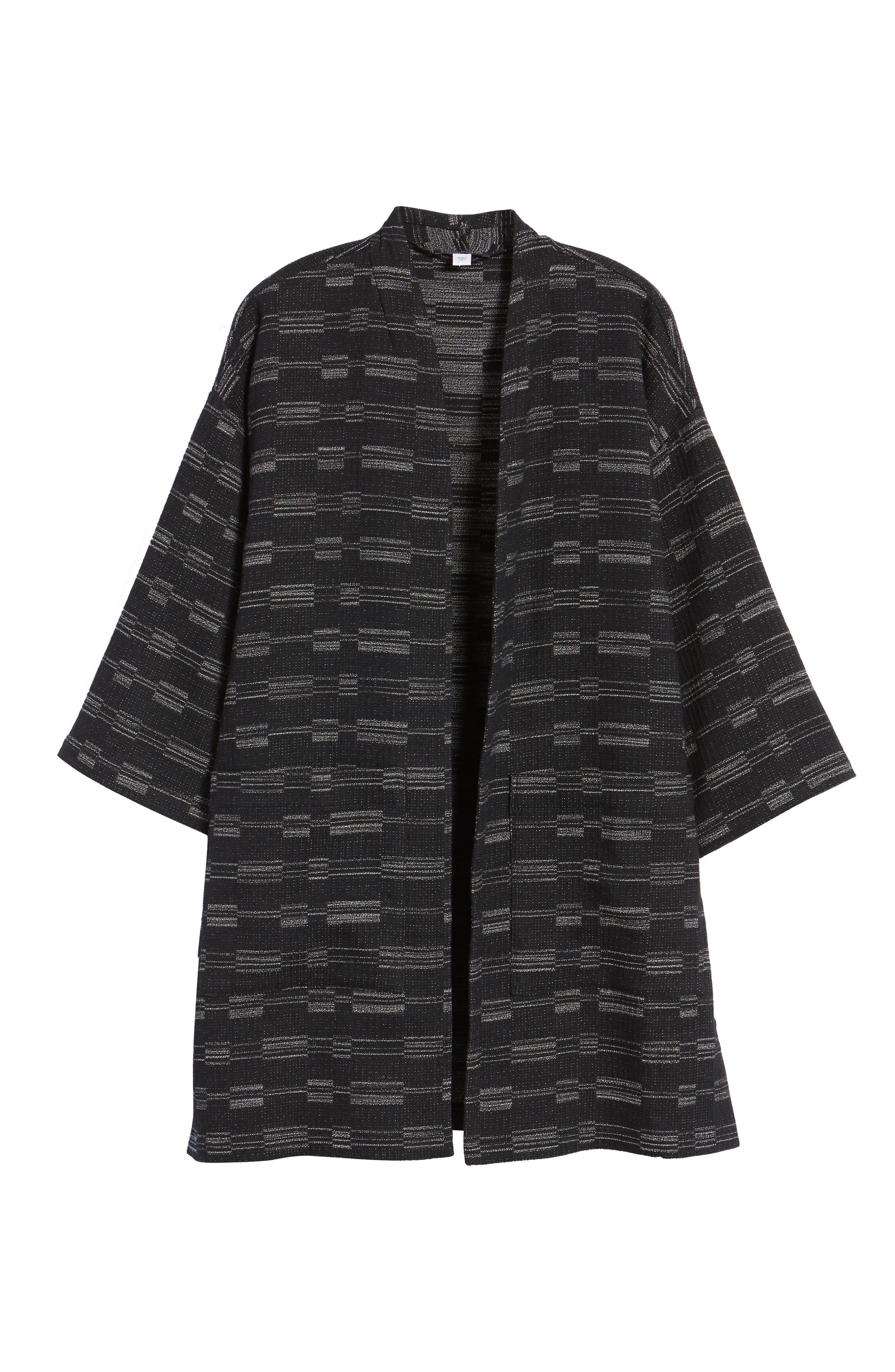 Organic Cotton Blend Tweed Jacket,                             Alternate thumbnail 5, color,                             001