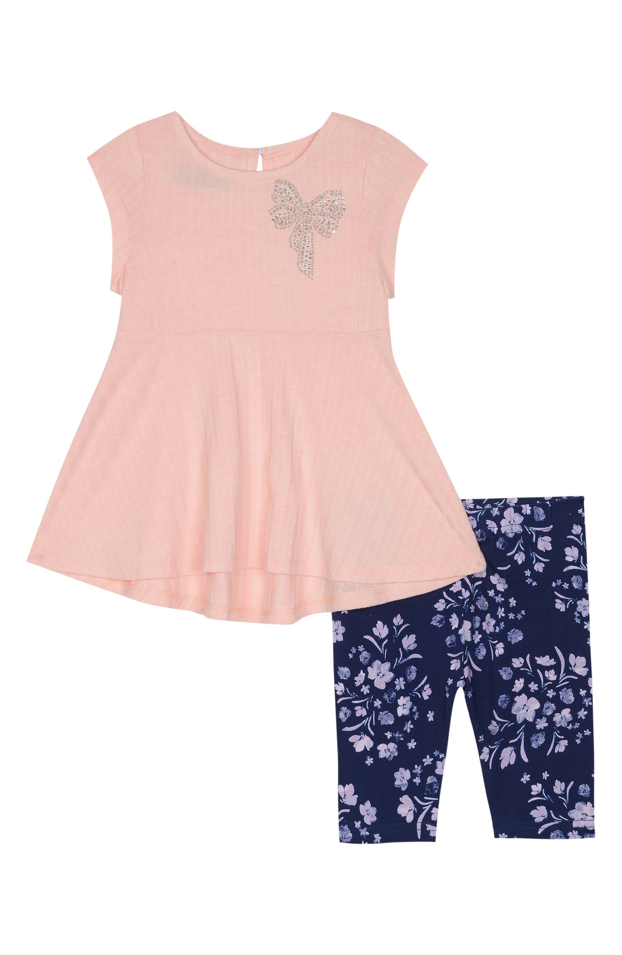 PASTOURELLE BY PIPPA & JULIE Dress & Leggings Set, Main, color, LT PINK