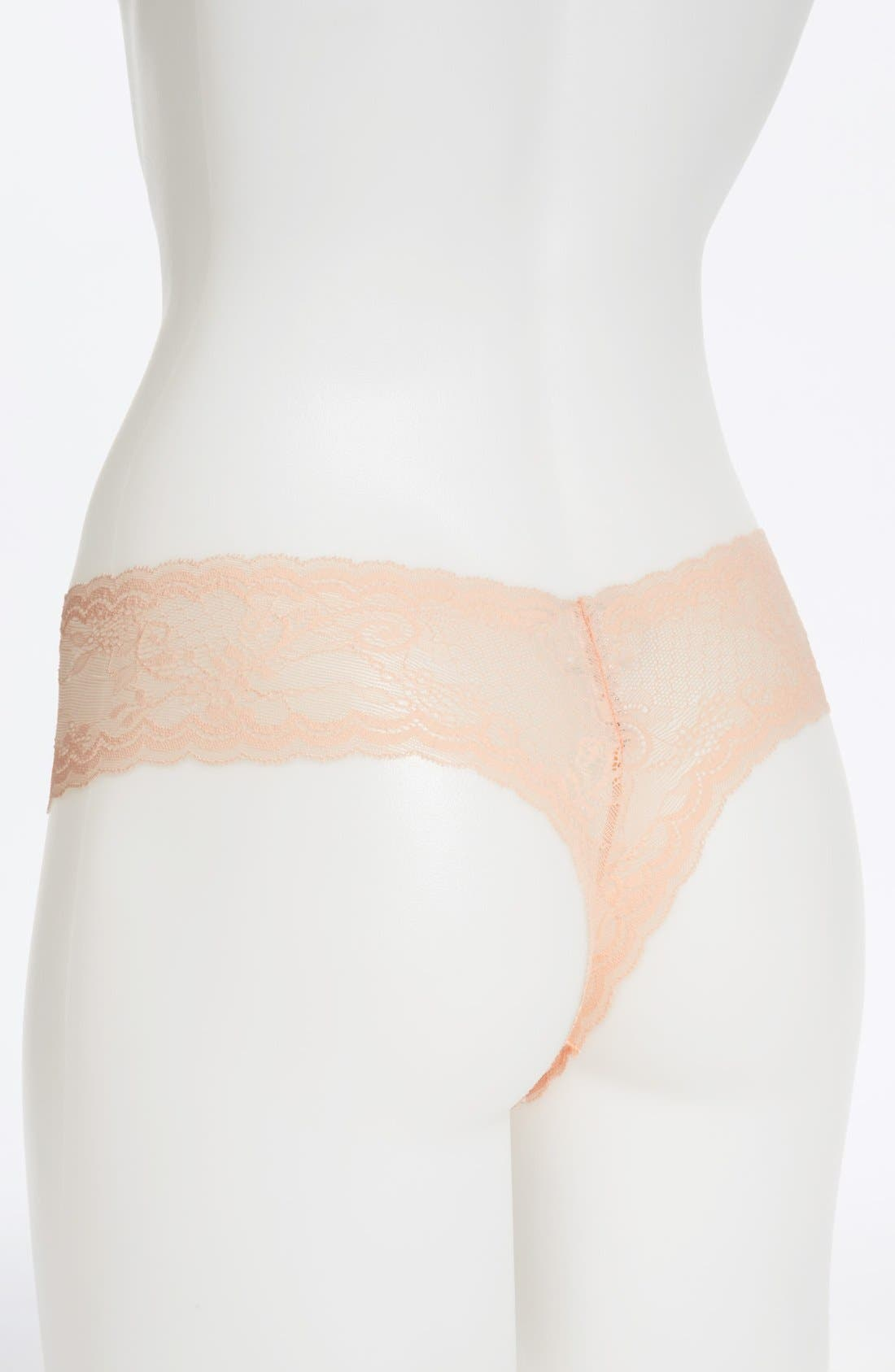 'Trenta' Low Rise Lace Thong,                             Alternate thumbnail 144, color,