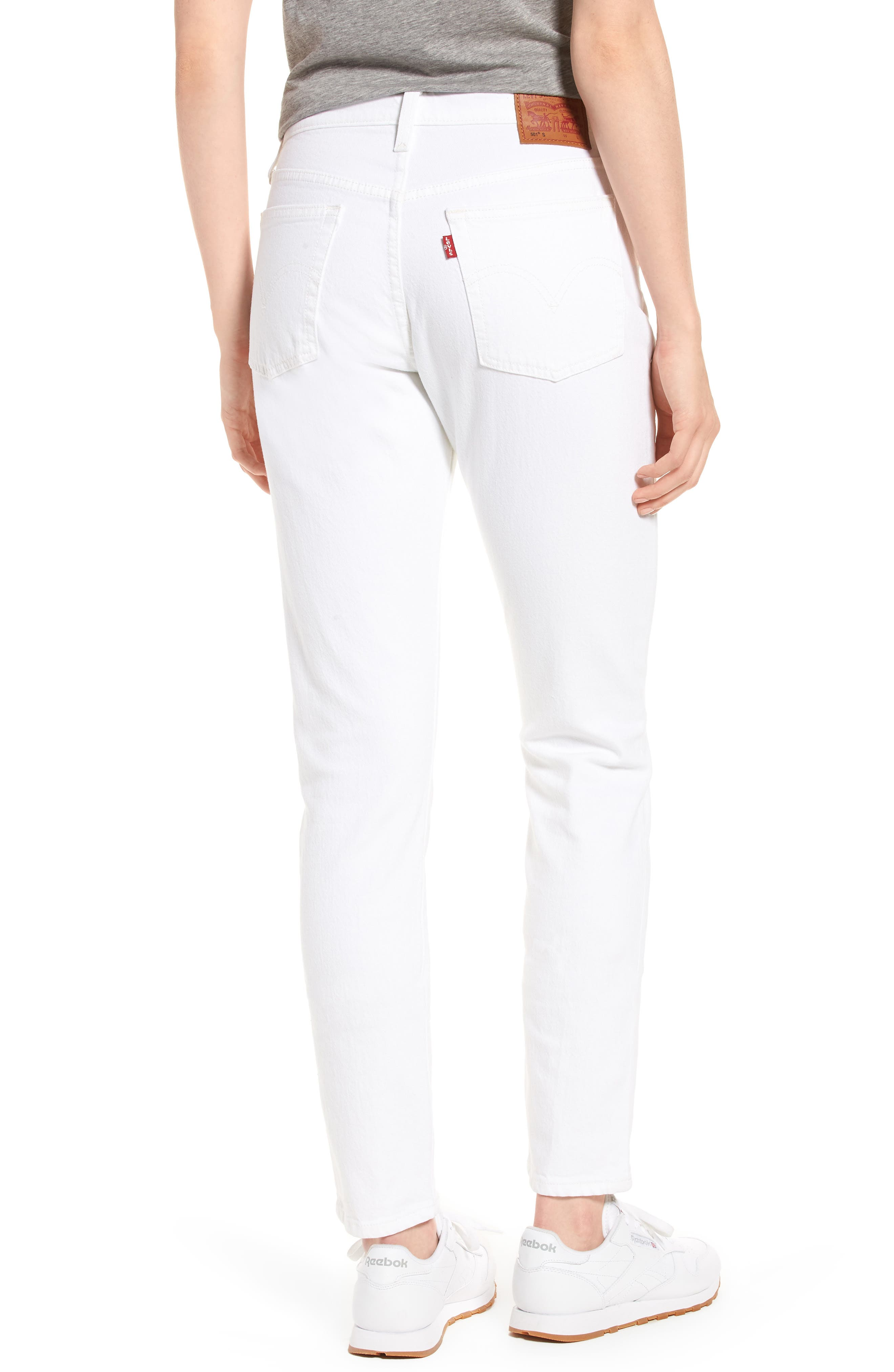 501<sup>®</sup> High Waist Skinny Jeans,                             Alternate thumbnail 2, color,                             100