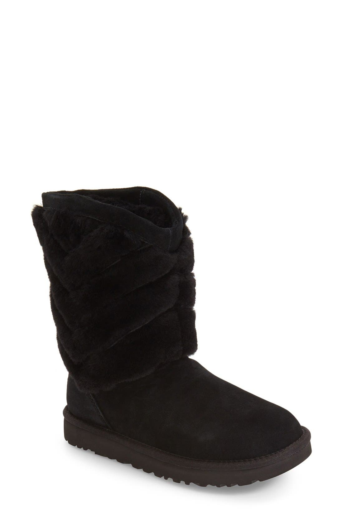 UGG<SUP>®</SUP>,                             Tania Genuine Shearling Boot,                             Main thumbnail 1, color,                             001