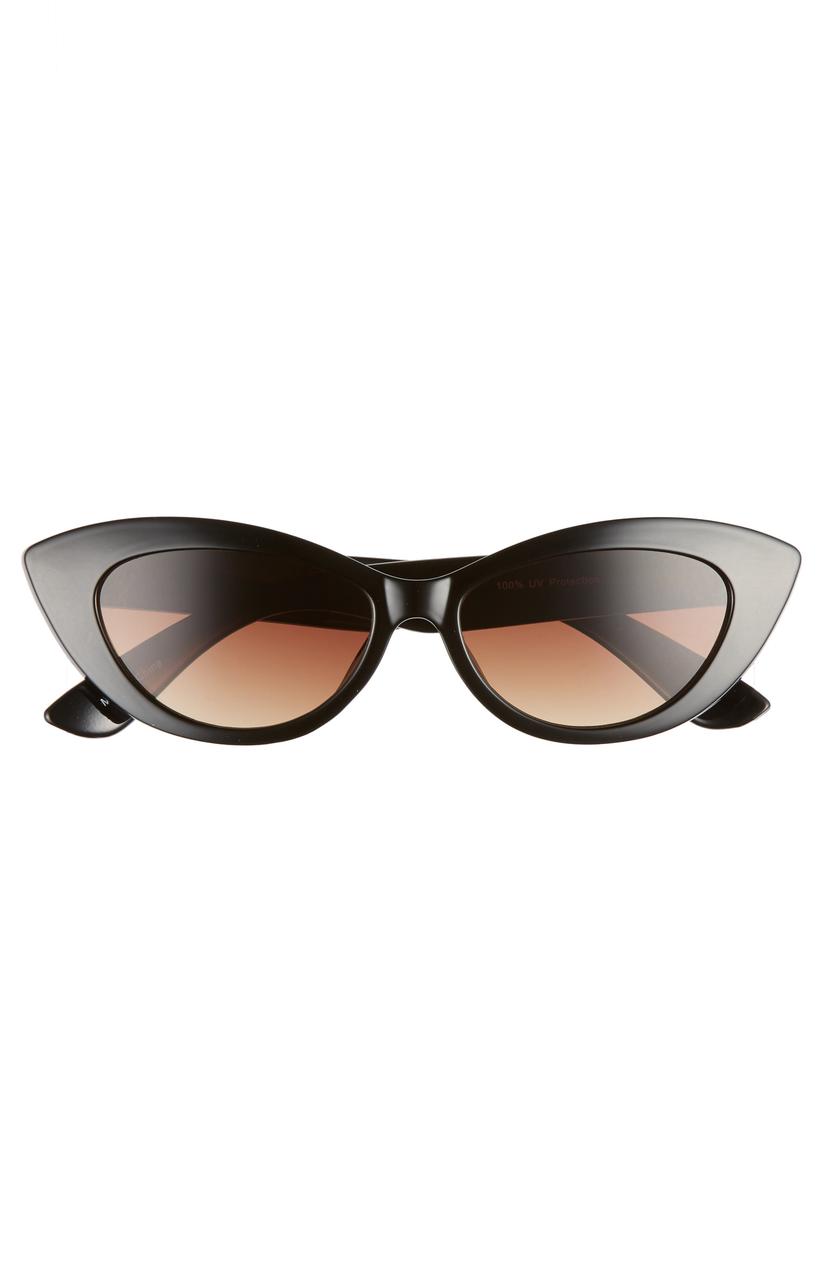 51mm Cat Eye Sunglasses,                             Alternate thumbnail 3, color,                             001