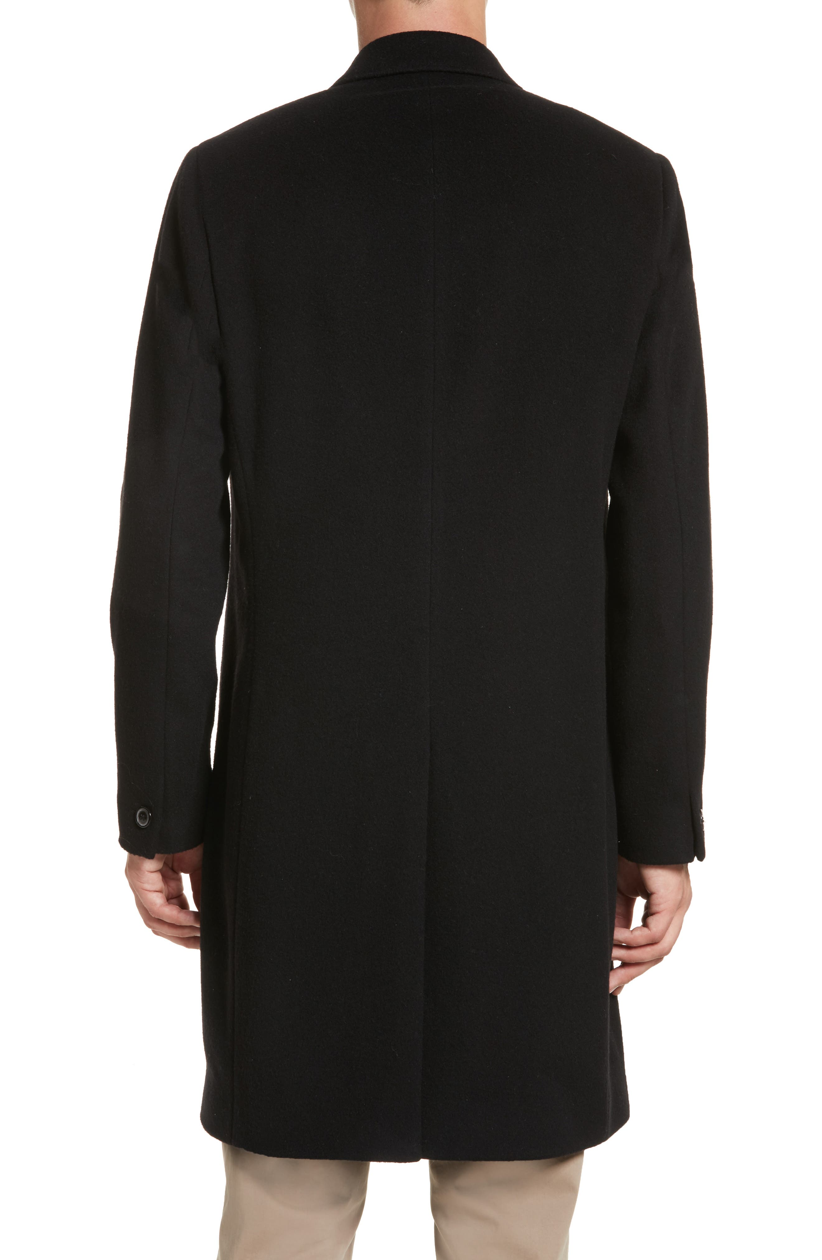 Wool & Cashmere Car Coat,                             Alternate thumbnail 2, color,                             001