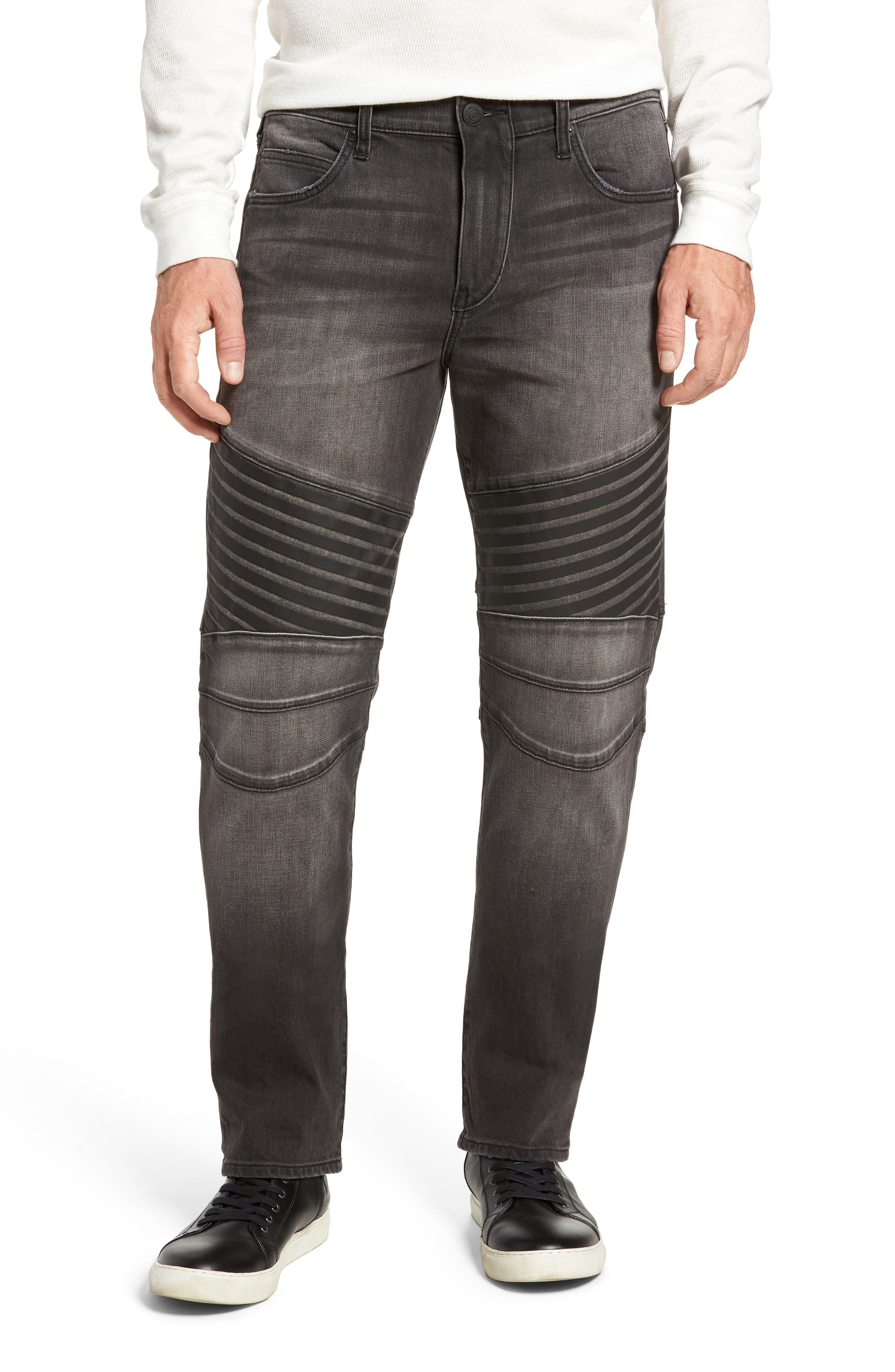 Geno Straight Leg Jeans,                             Main thumbnail 1, color,                             DARK REBEL RACE