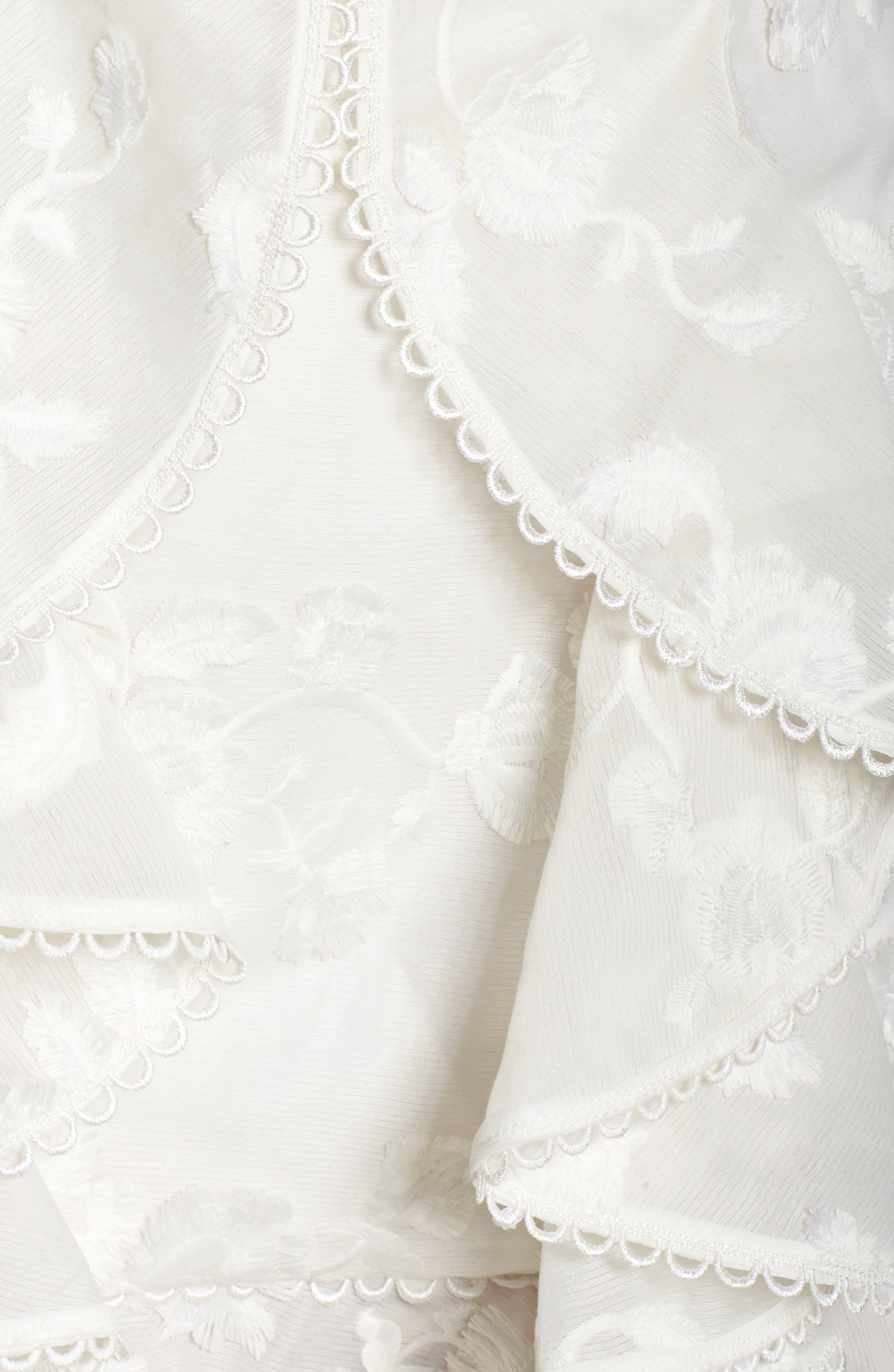 Shine Ruffle Lace Dress,                             Alternate thumbnail 5, color,                             900
