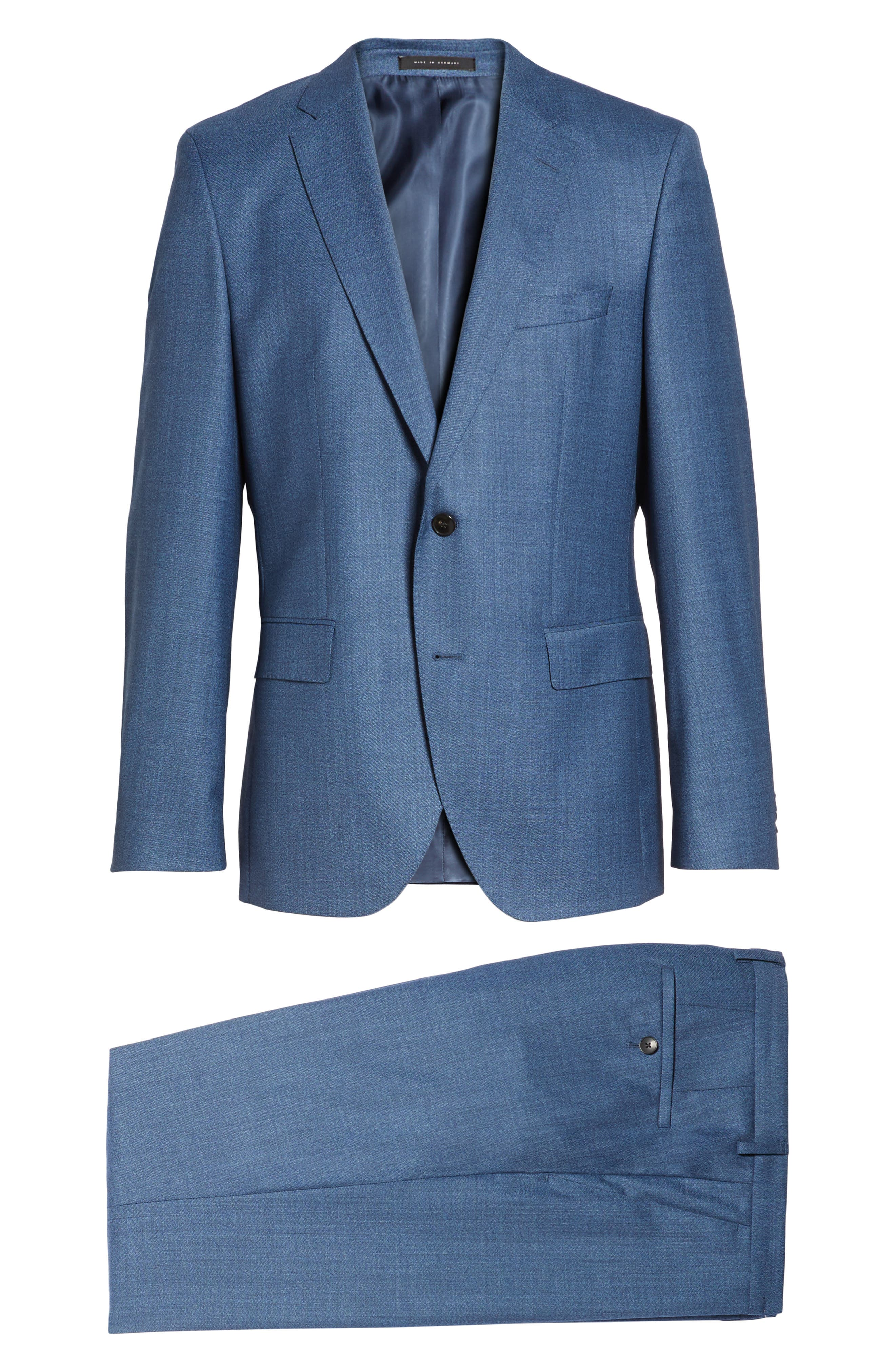 Johnstons/Lenon Classic Fit Solid Wool Suit,                             Alternate thumbnail 8, color,                             421
