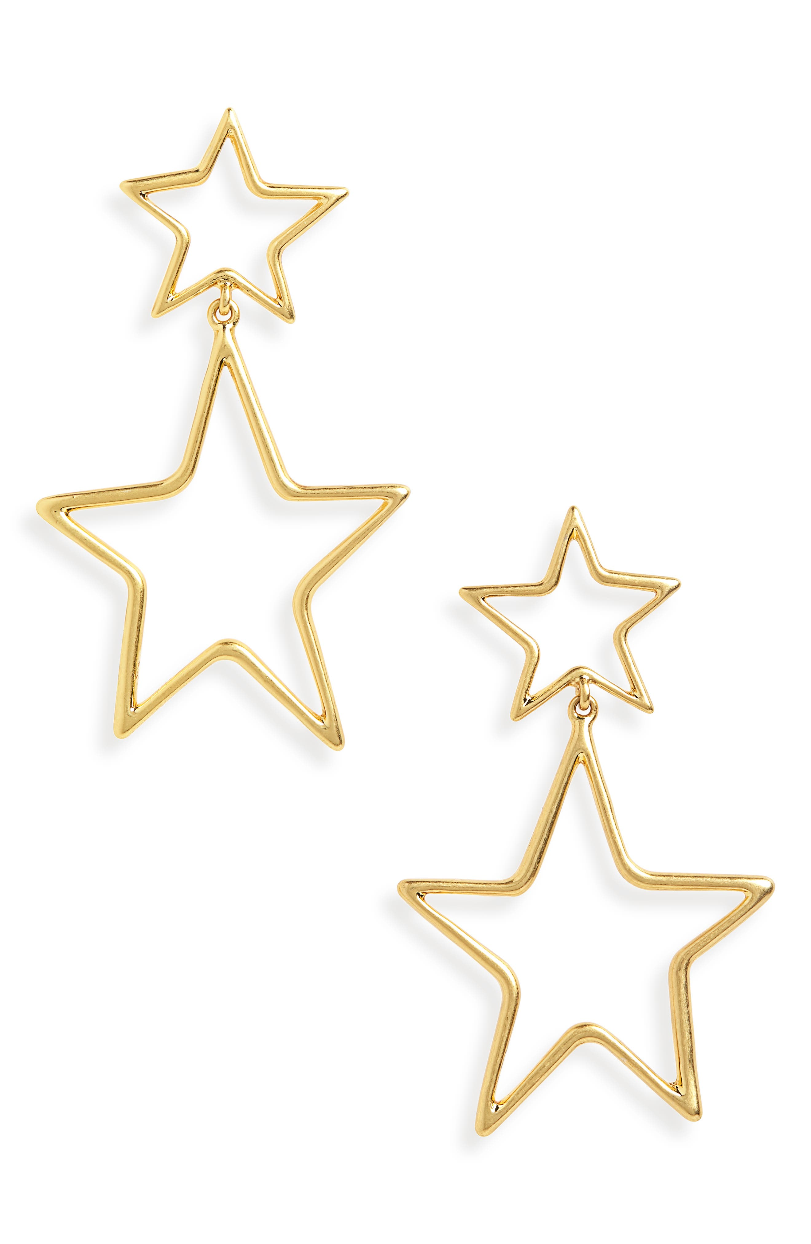 Night Star Statement Earrings,                         Main,                         color, VINTAGE GOLD
