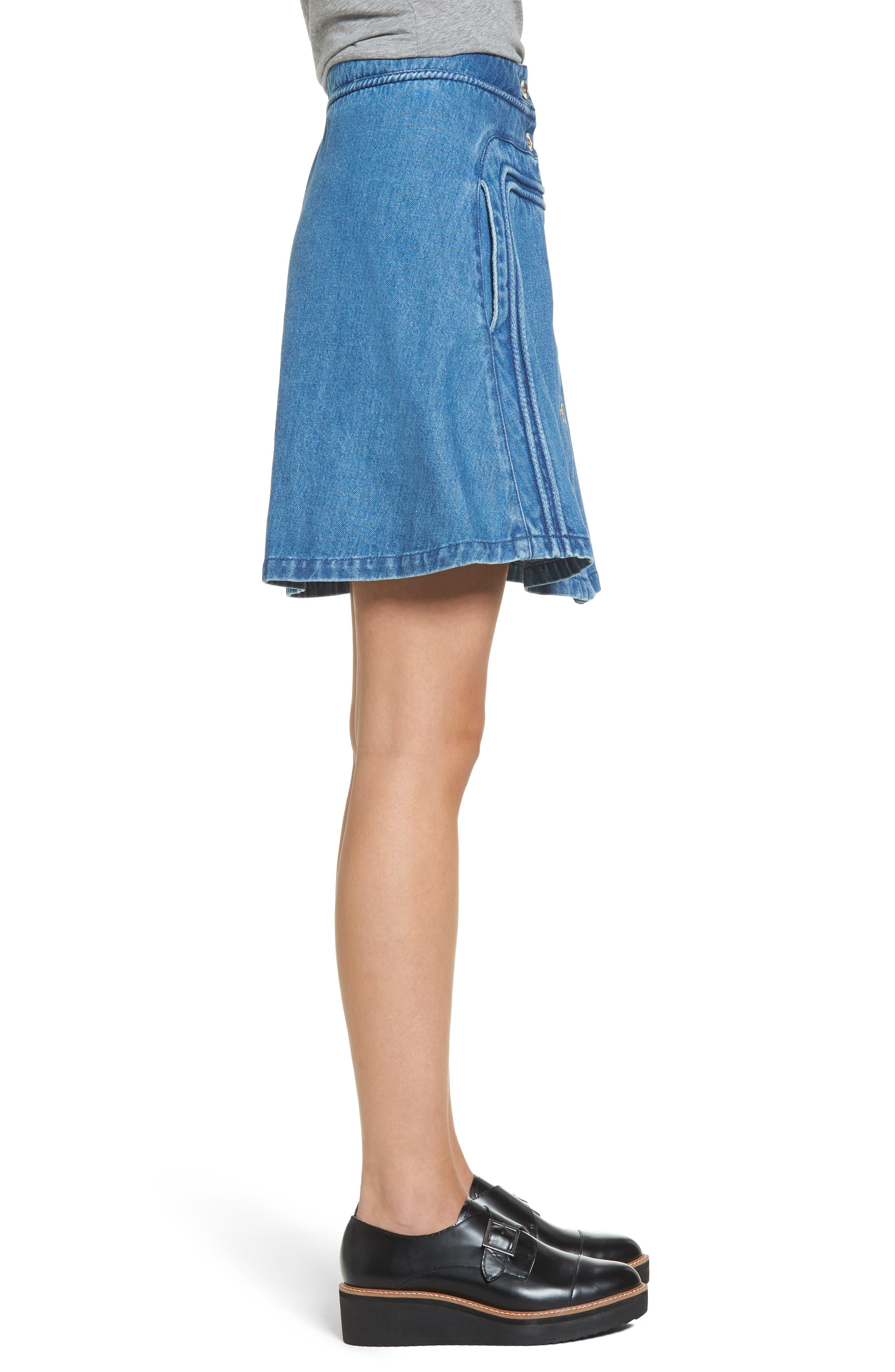 A-Line Skirt,                             Alternate thumbnail 3, color,                             401