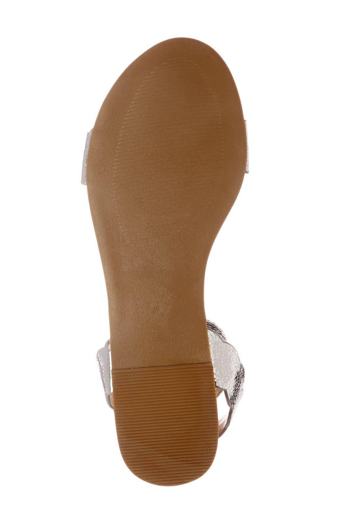 'Odette' Scalloped Ankle Strap Flat Sandal,                             Alternate thumbnail 11, color,
