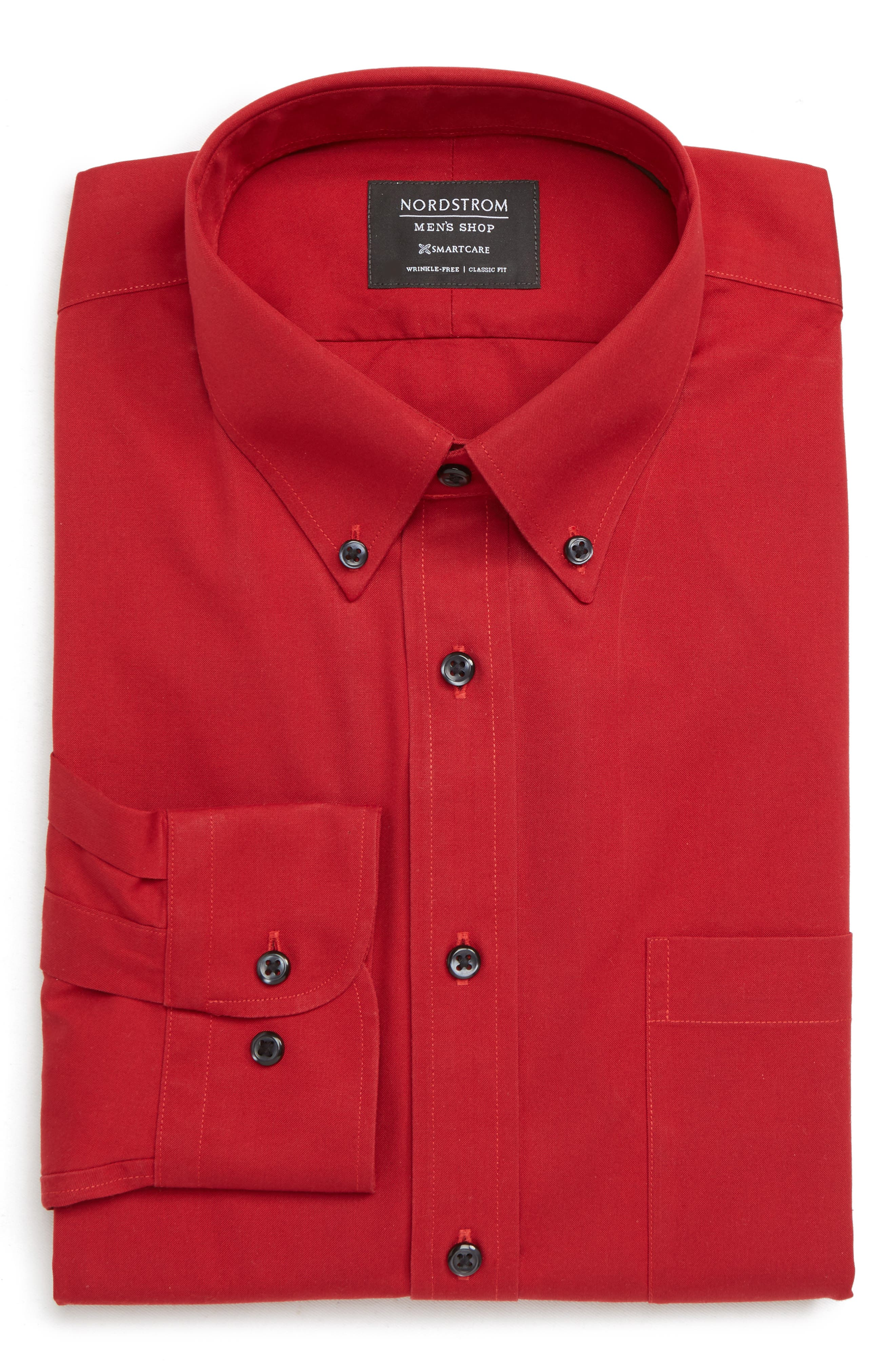 Nordstrom Shop Smartcare(TM) Classic Fit Dress Shirt, Red