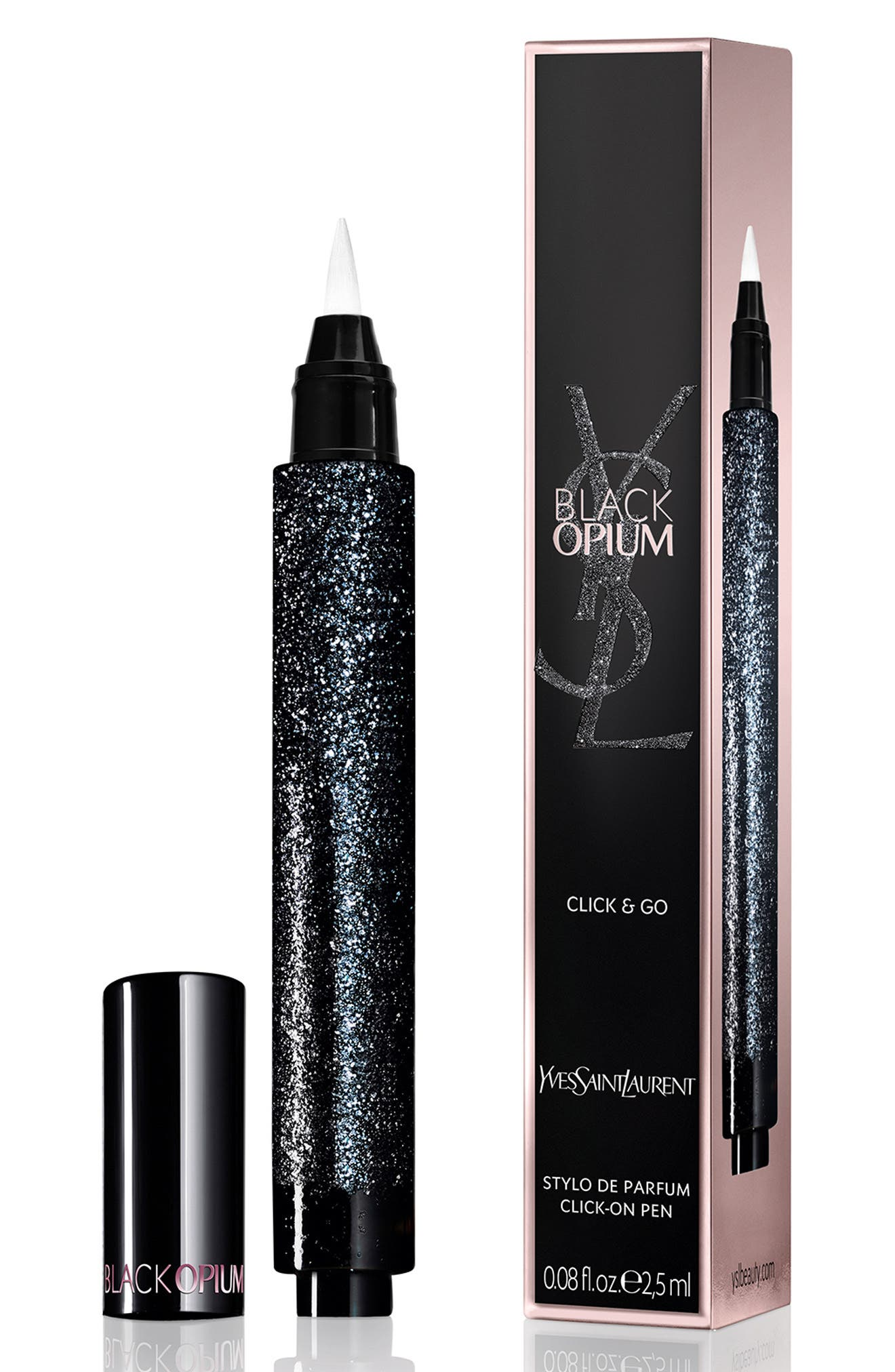 Black Opium Click & Go Perfume Gel Brush Pen,                             Main thumbnail 1, color,                             NO COLOR