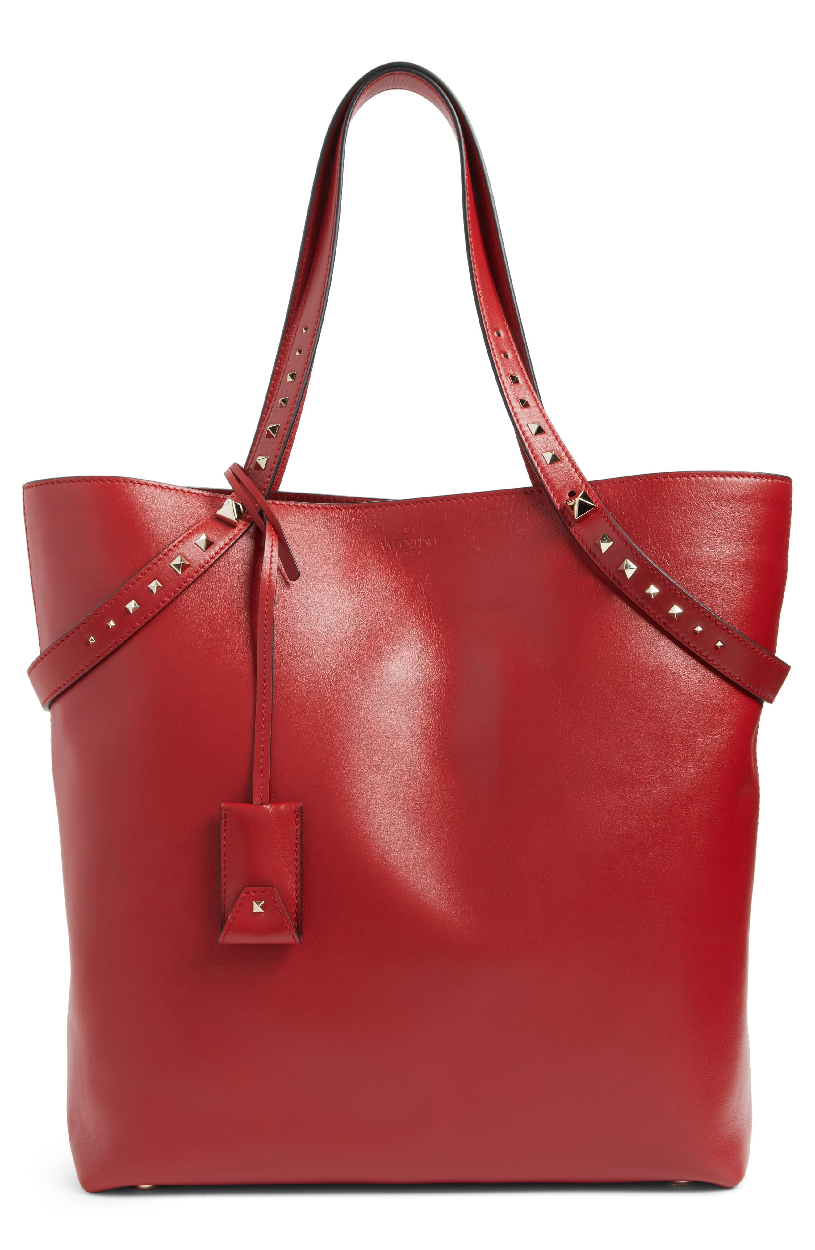Lovestud Leather Tote,                             Main thumbnail 3, color,