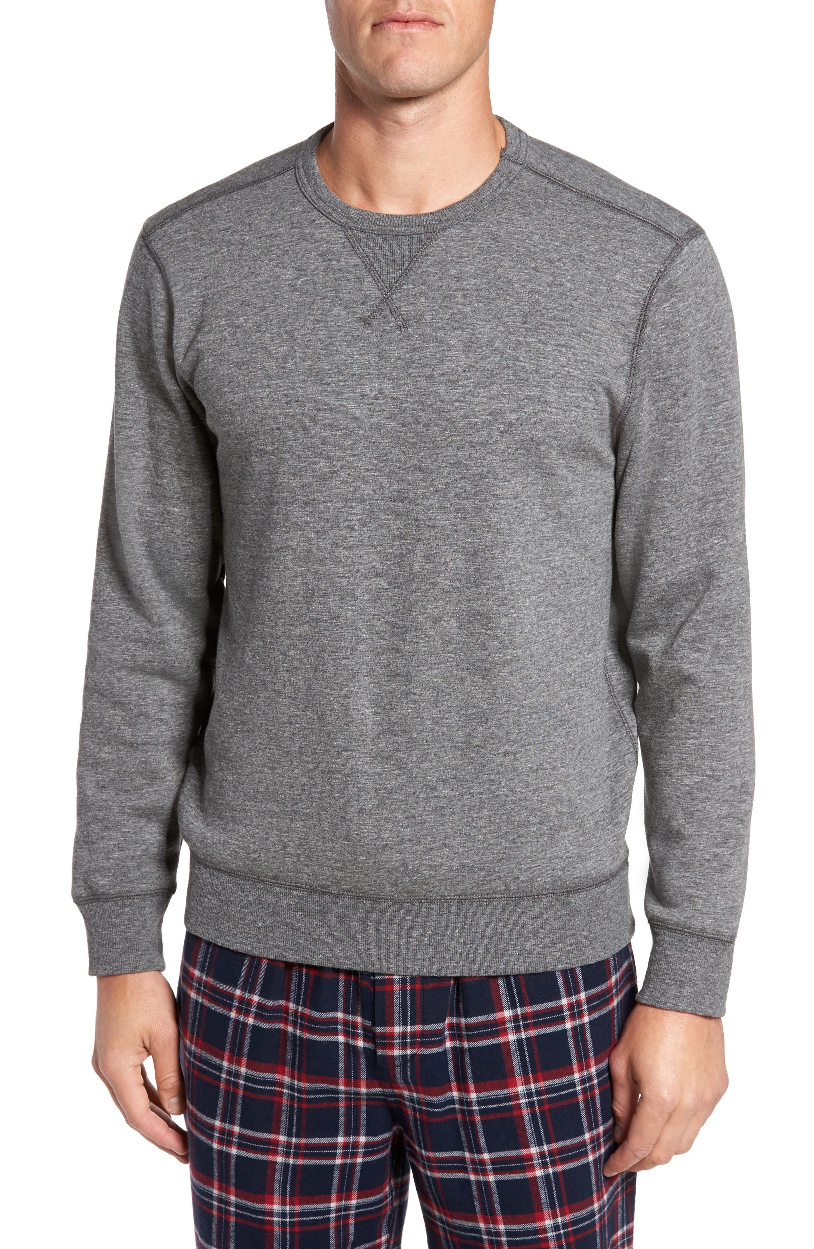 French Terry Long Sleeve Pajama Top,                             Main thumbnail 1, color,                             030