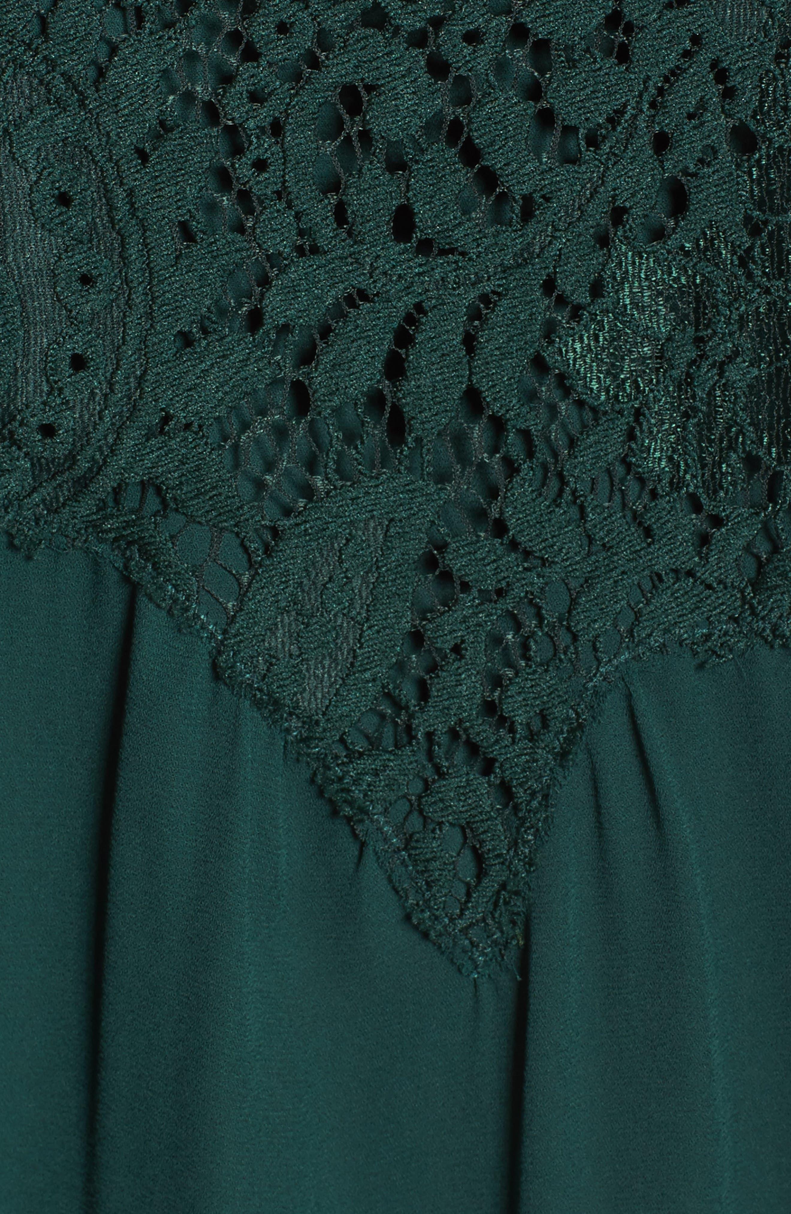 Button Back Lace Top,                             Alternate thumbnail 5, color,                             301