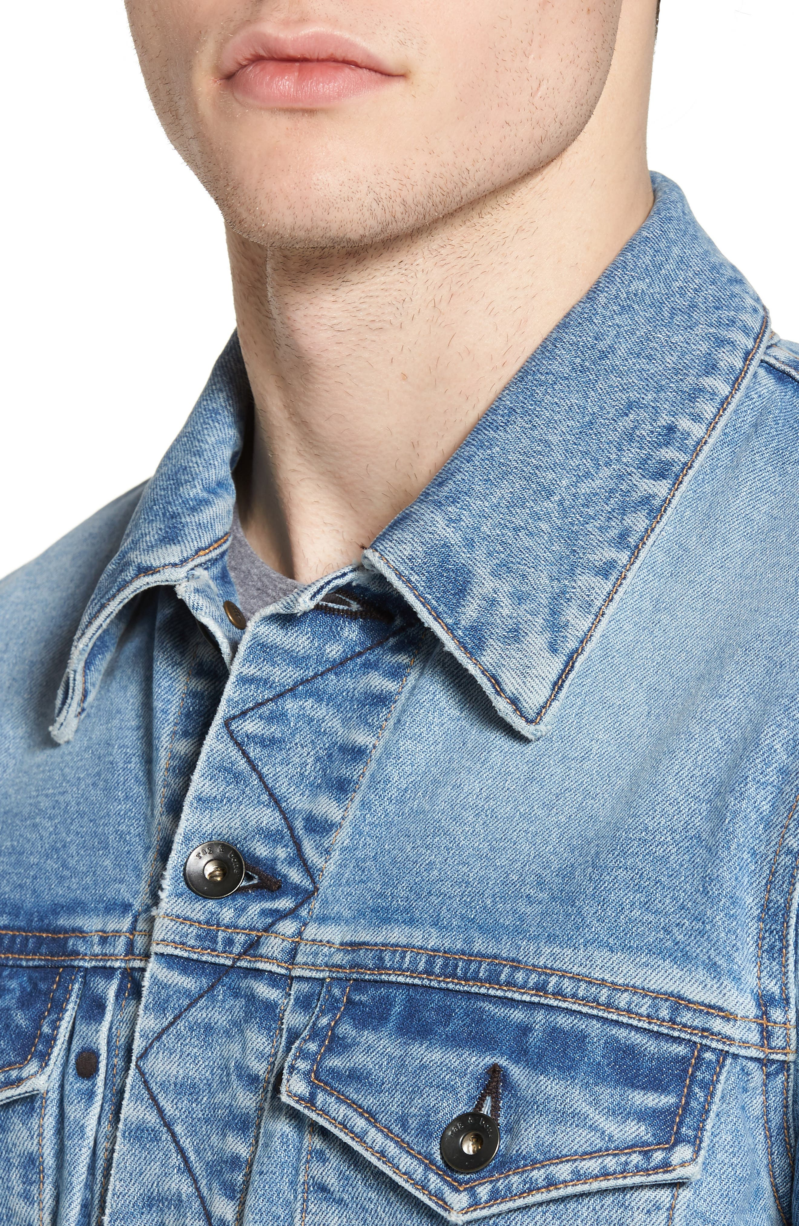Jean Jacket,                             Alternate thumbnail 4, color,                             450