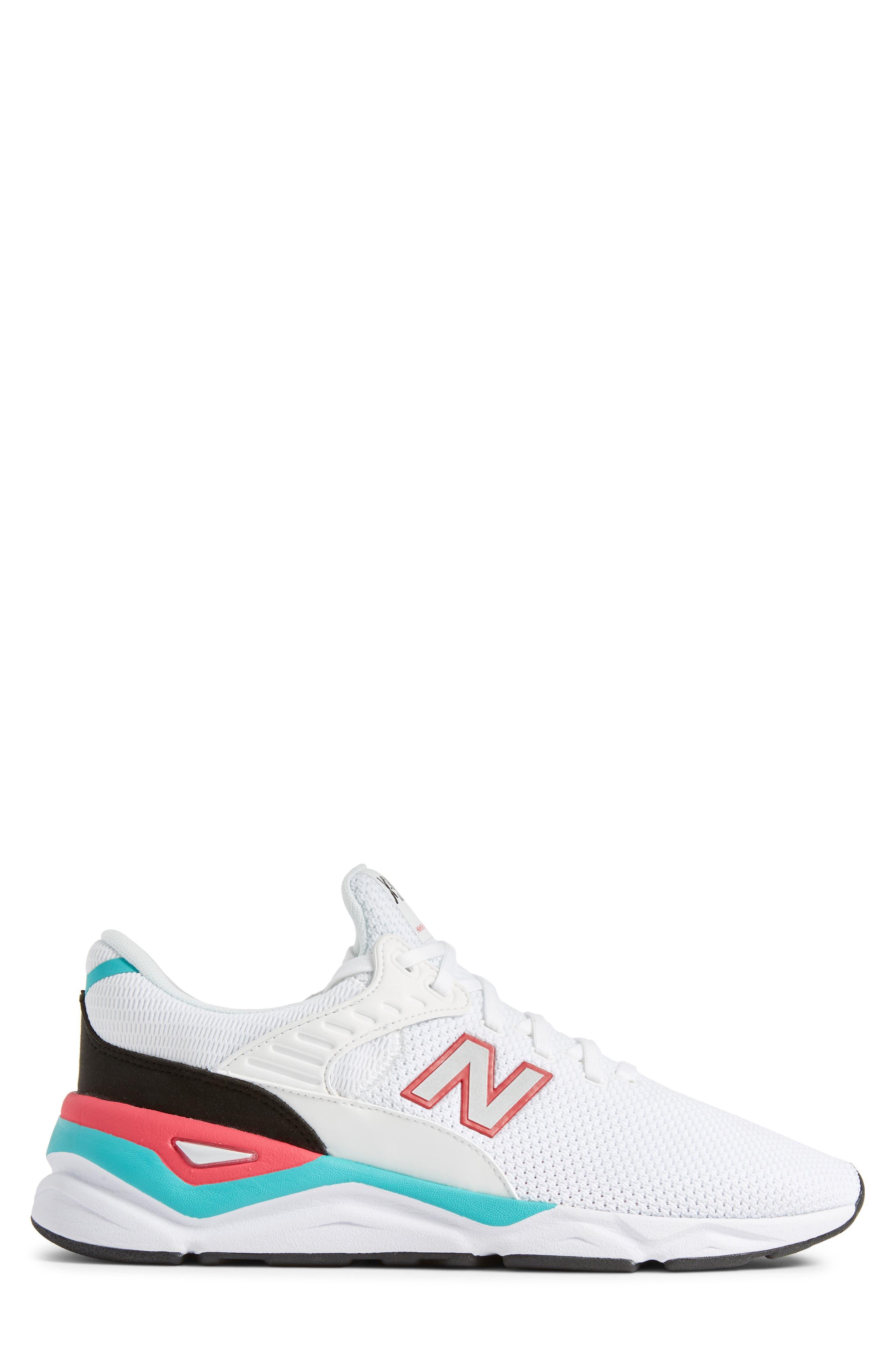 X-90 Knit Sneaker,                             Alternate thumbnail 3, color,                             WHITE