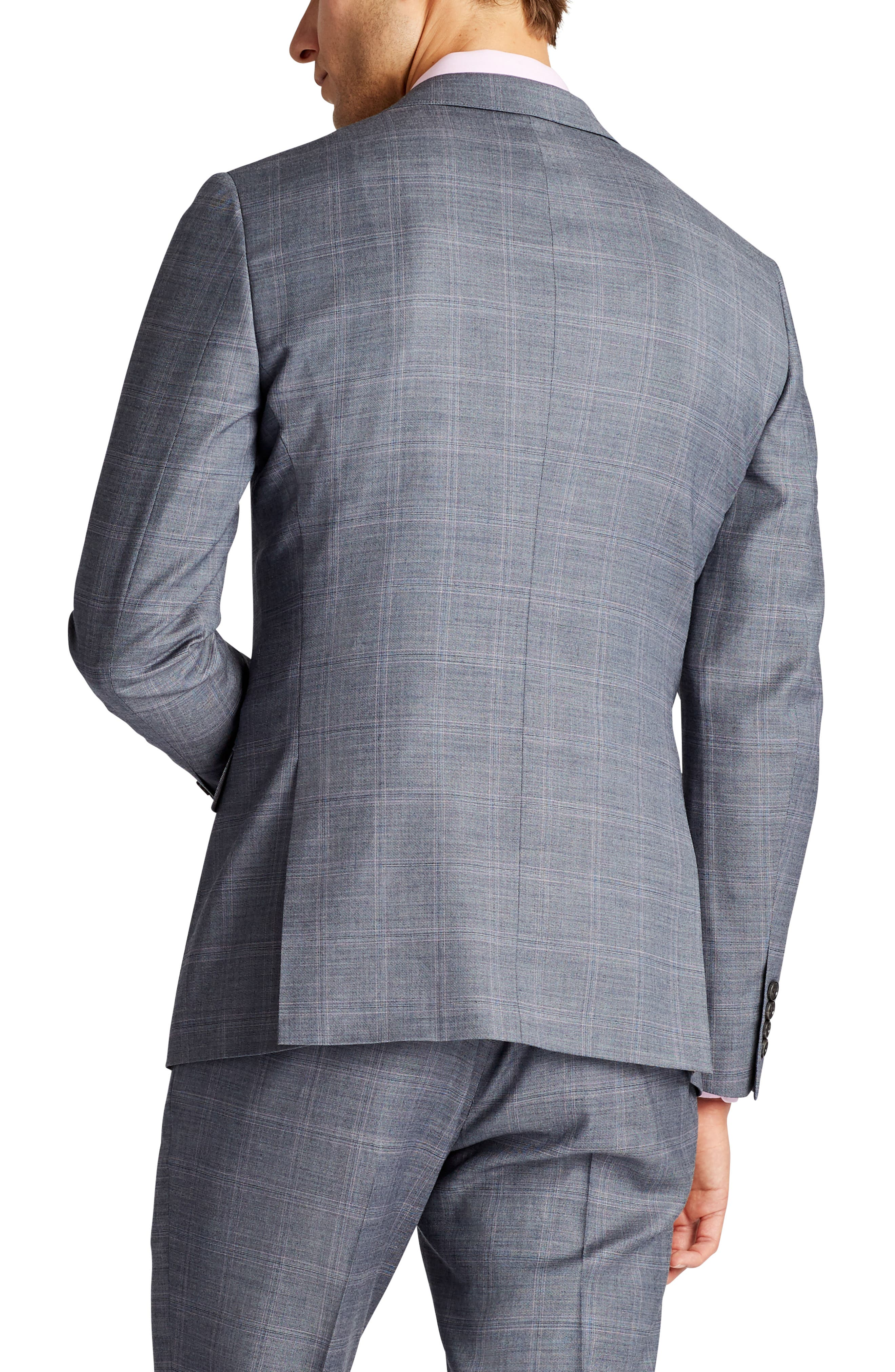 Jetsetter Slim Fit Stretch Plaid Wool Sport Coat,                             Alternate thumbnail 2, color,                             020
