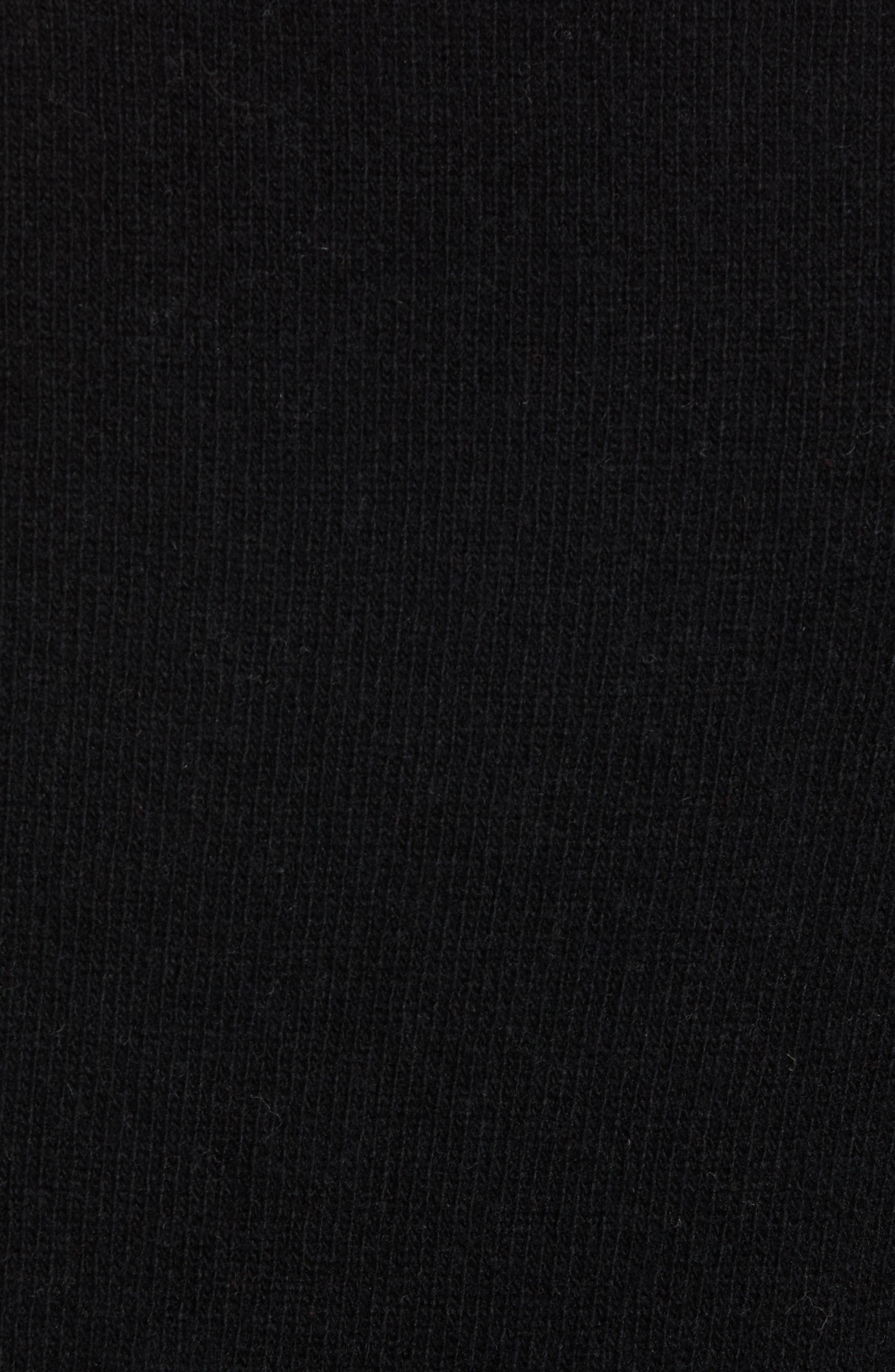 Bonjour Wool Blend Sweater,                             Alternate thumbnail 5, color,                             BLACK WHITECAP GREY