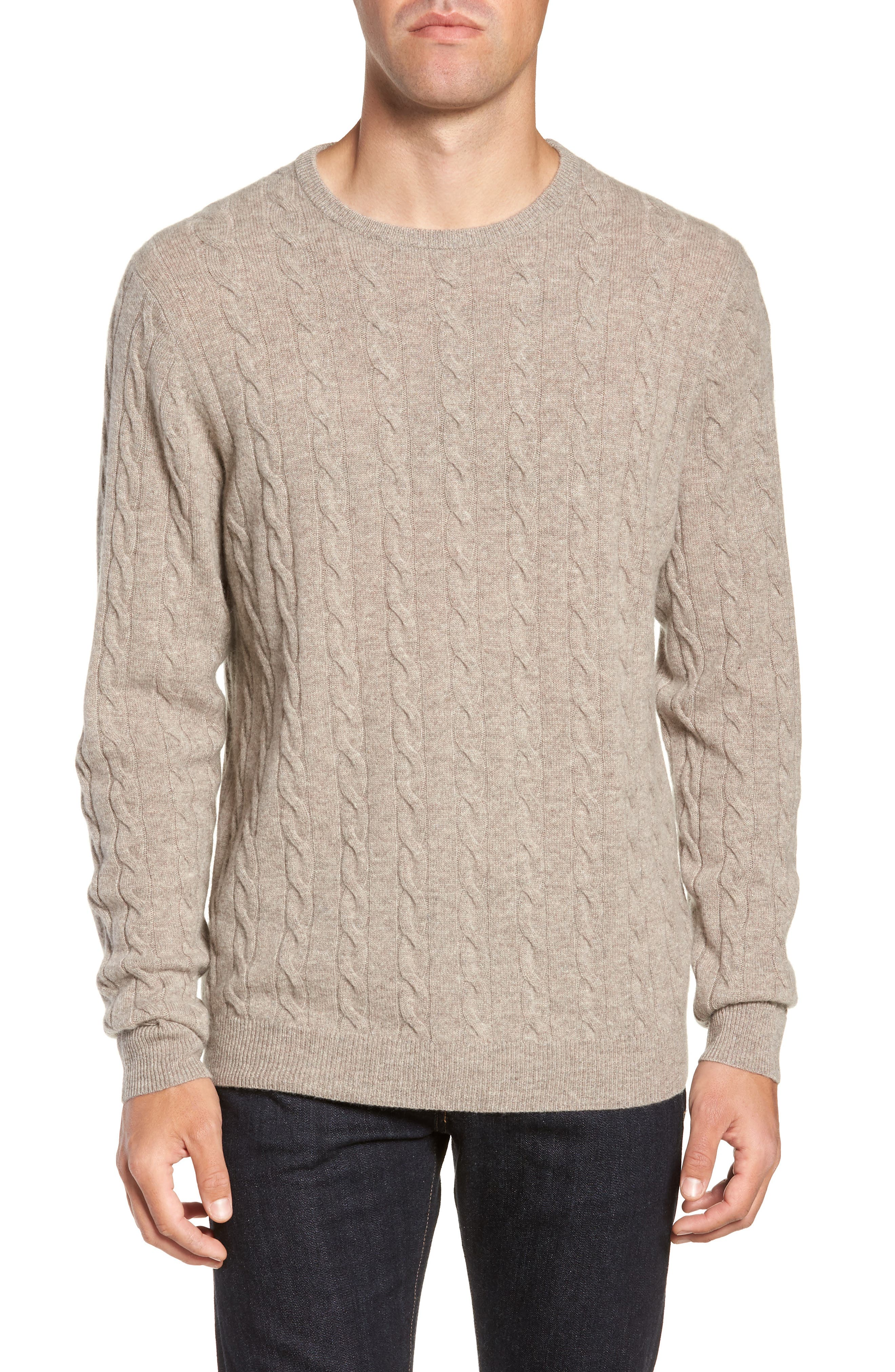 Cashmere Cable Knit Sweater,                             Main thumbnail 1, color,                             270