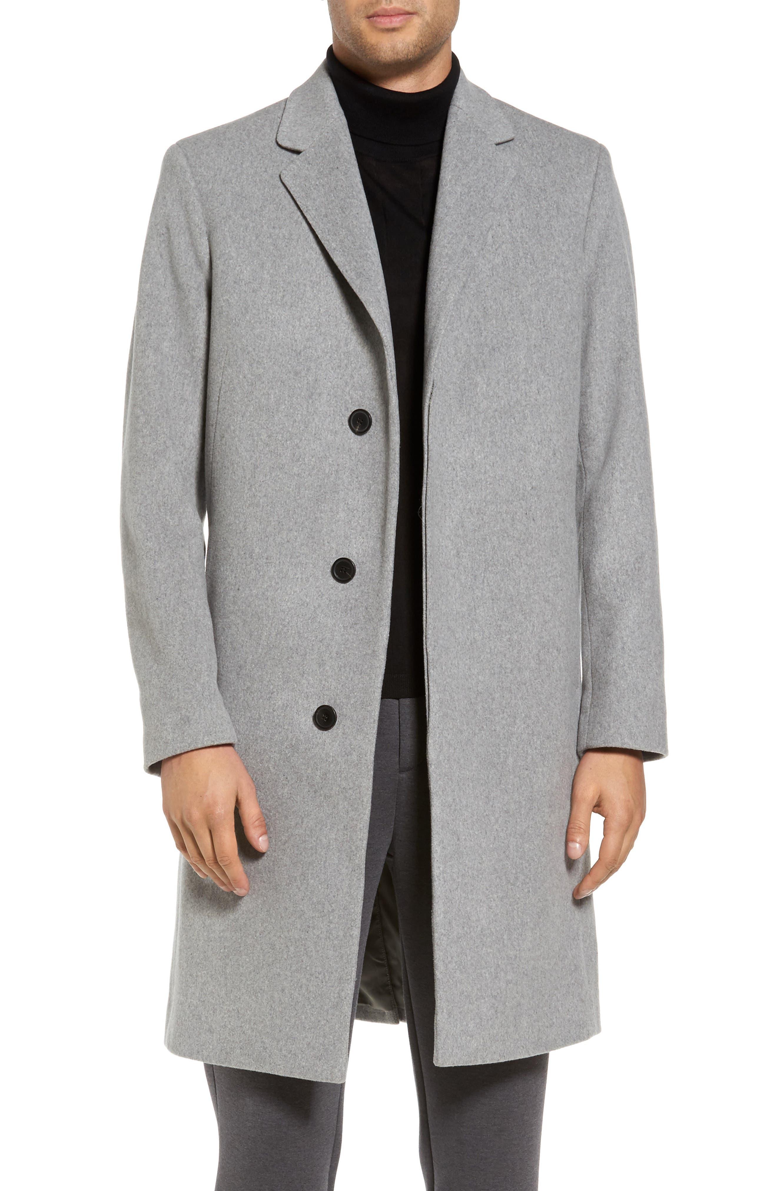 Bower Melton Wool Blend Topcoat,                             Main thumbnail 1, color,