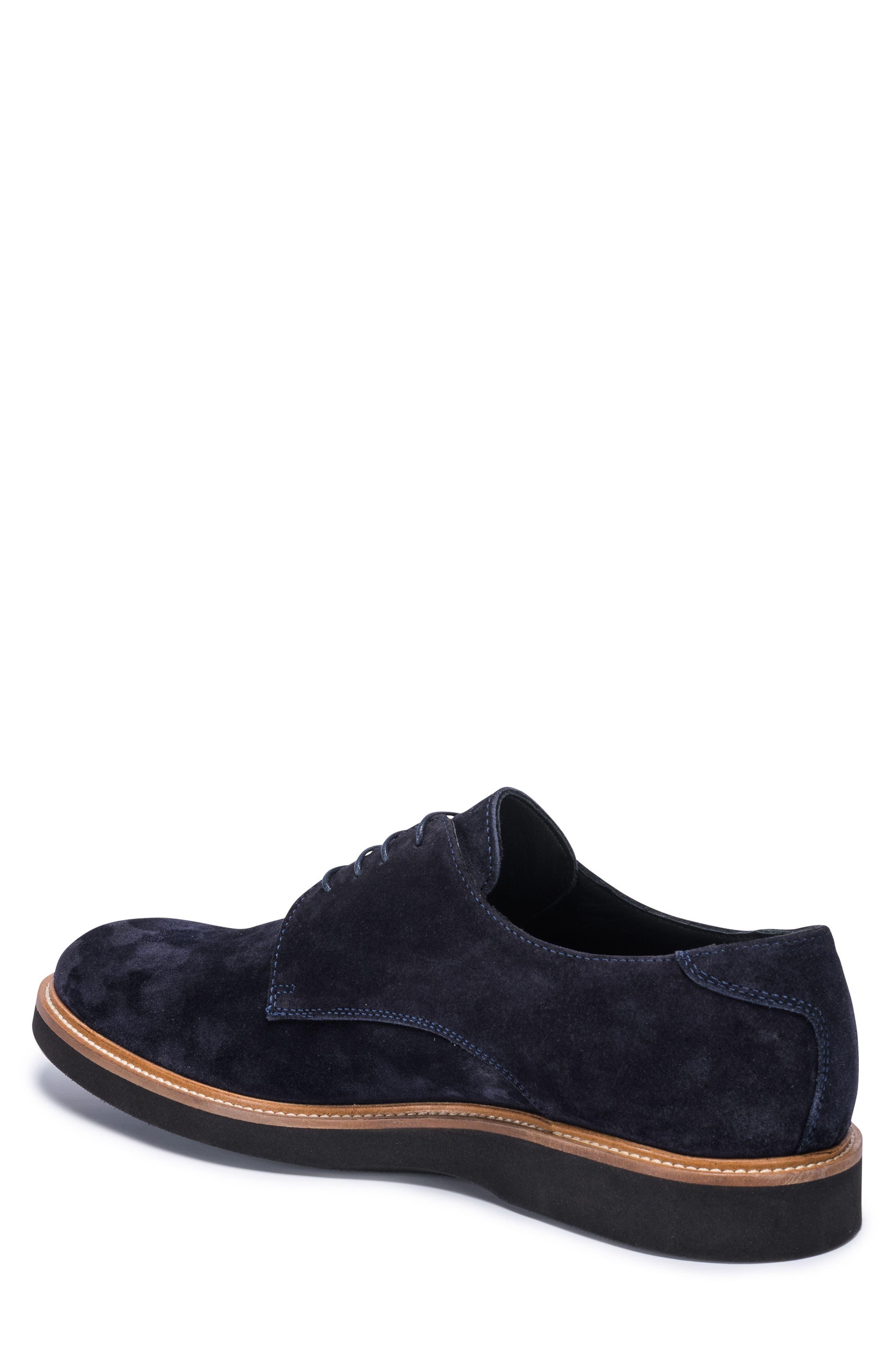 Siena Plain Toe Derby,                             Alternate thumbnail 2, color,                             BLUE SUEDE