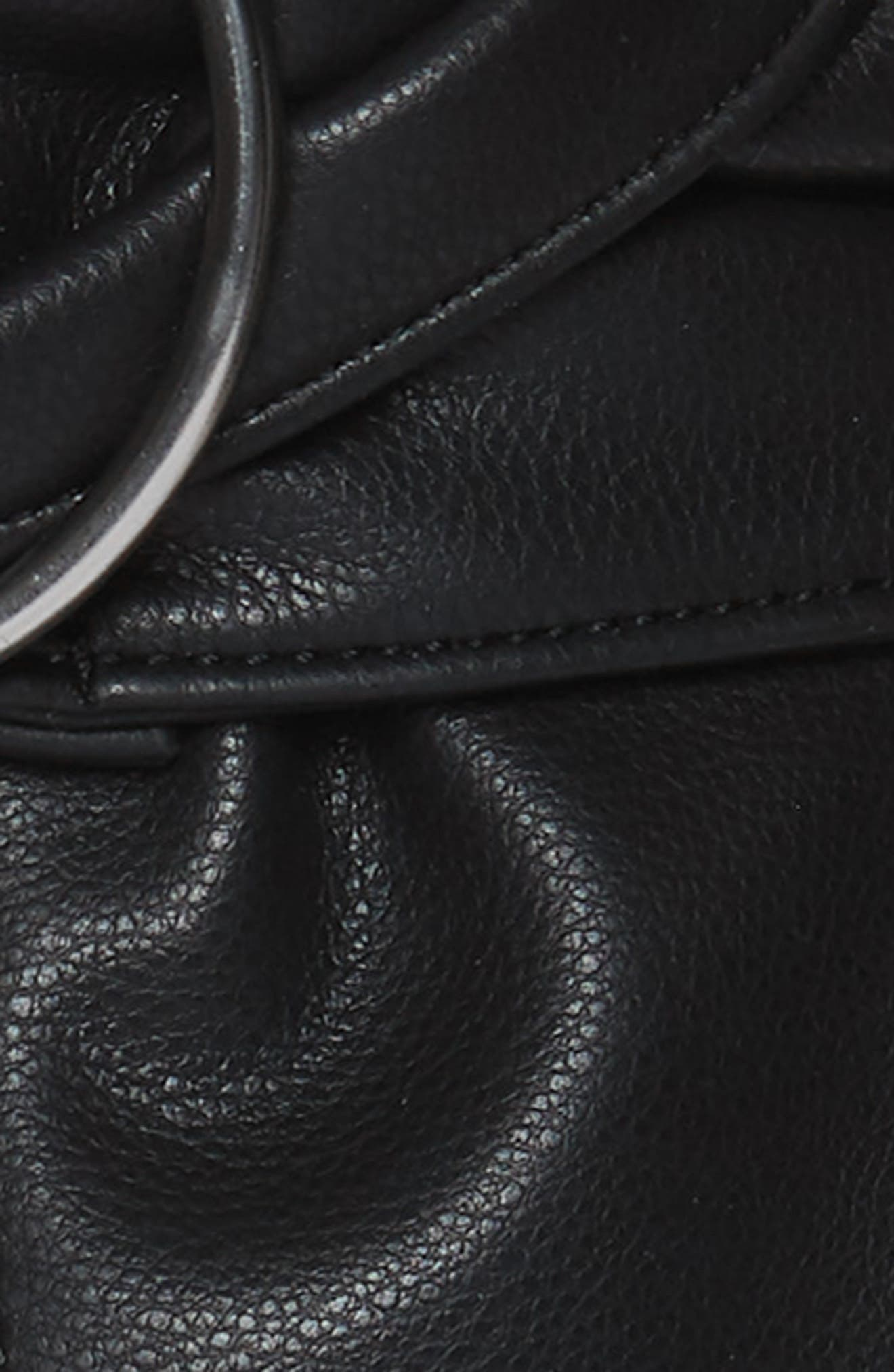 Circle Ring Faux Leather Belt,                             Alternate thumbnail 3, color,                             BLACK