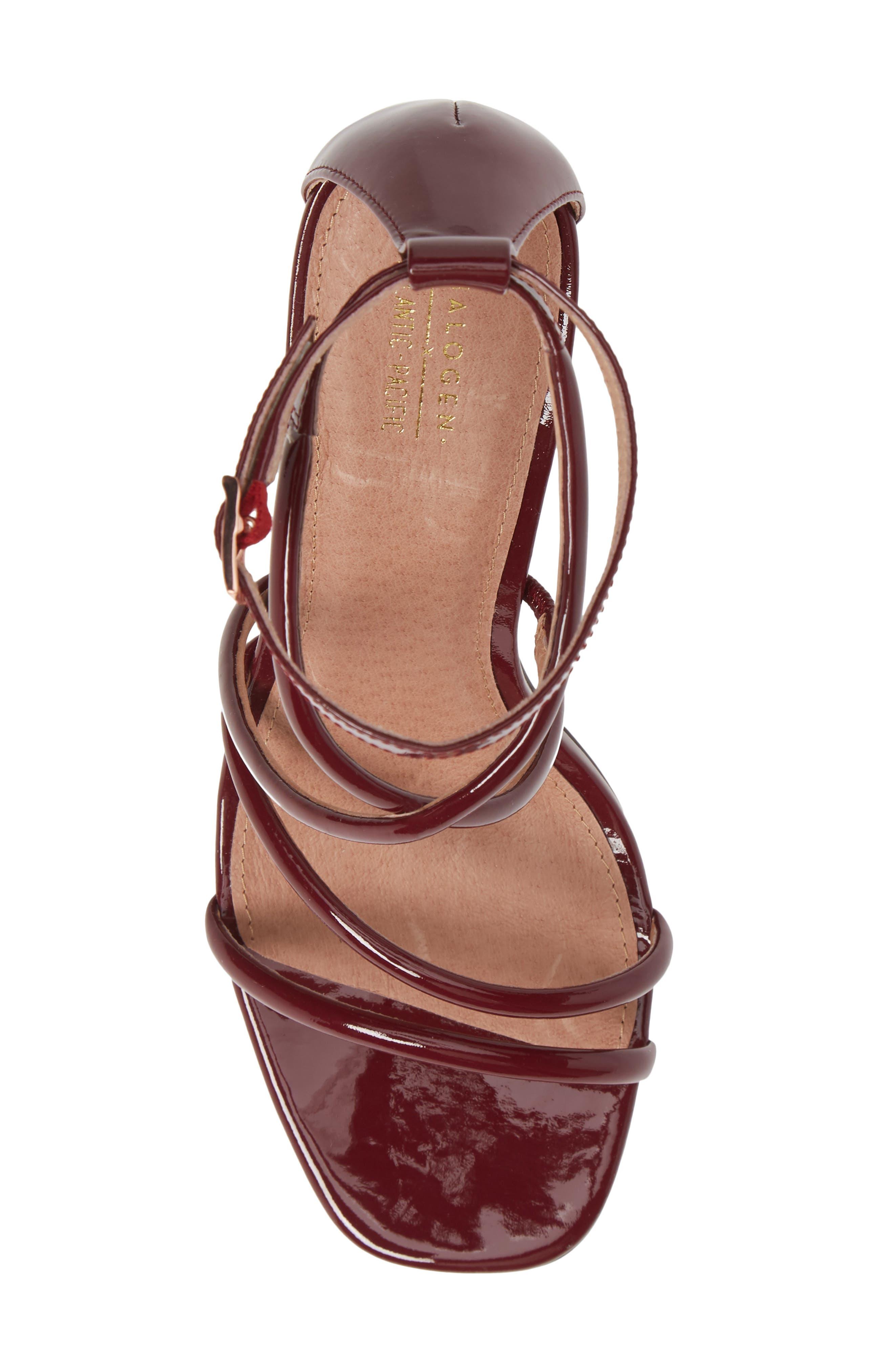 x Atlantic-Pacific Violetta Multi Strap Sandal,                             Alternate thumbnail 5, color,                             MERLOT PATENT