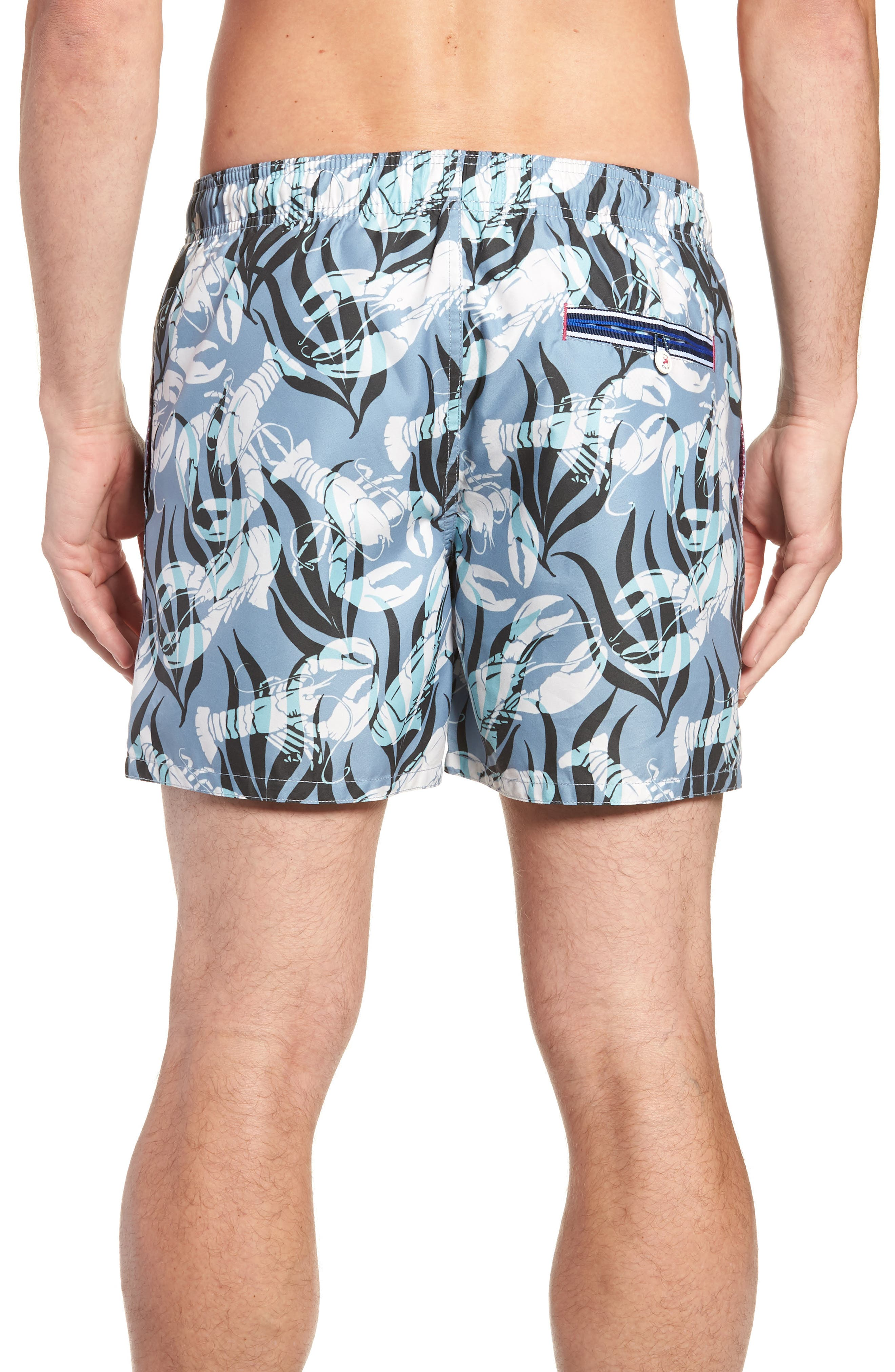 Yalow Slim Fit Lobster Swim Trunks,                             Alternate thumbnail 2, color,                             BLUE