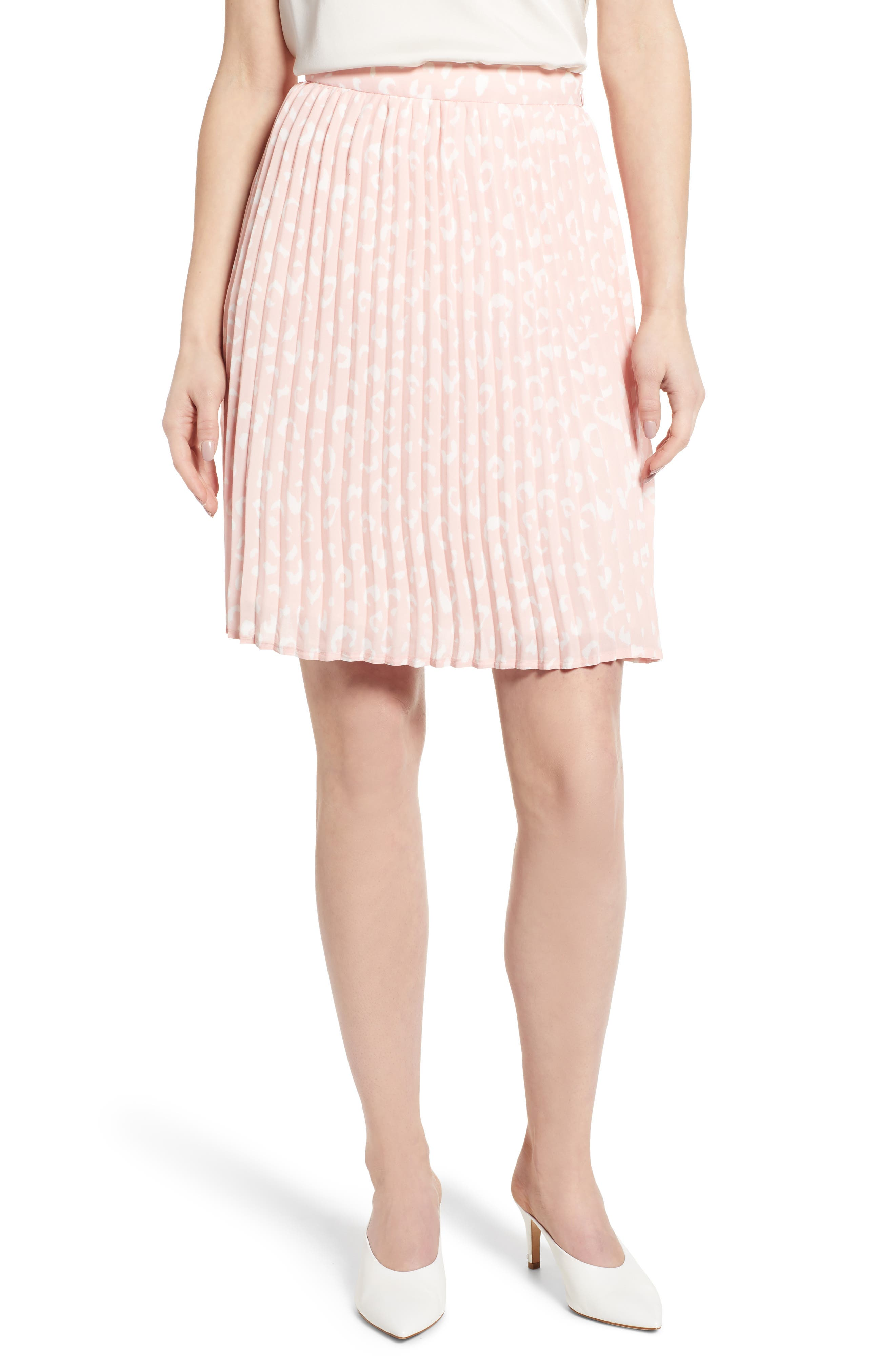 Petite Gibson X International Day Thamarr Pleated Skirt, Pink