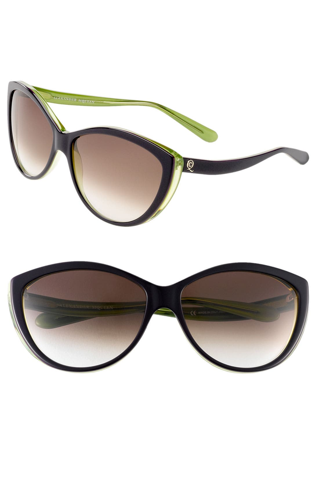61mm Two-Tone Cat Eye Sunglasses,                             Main thumbnail 9, color,