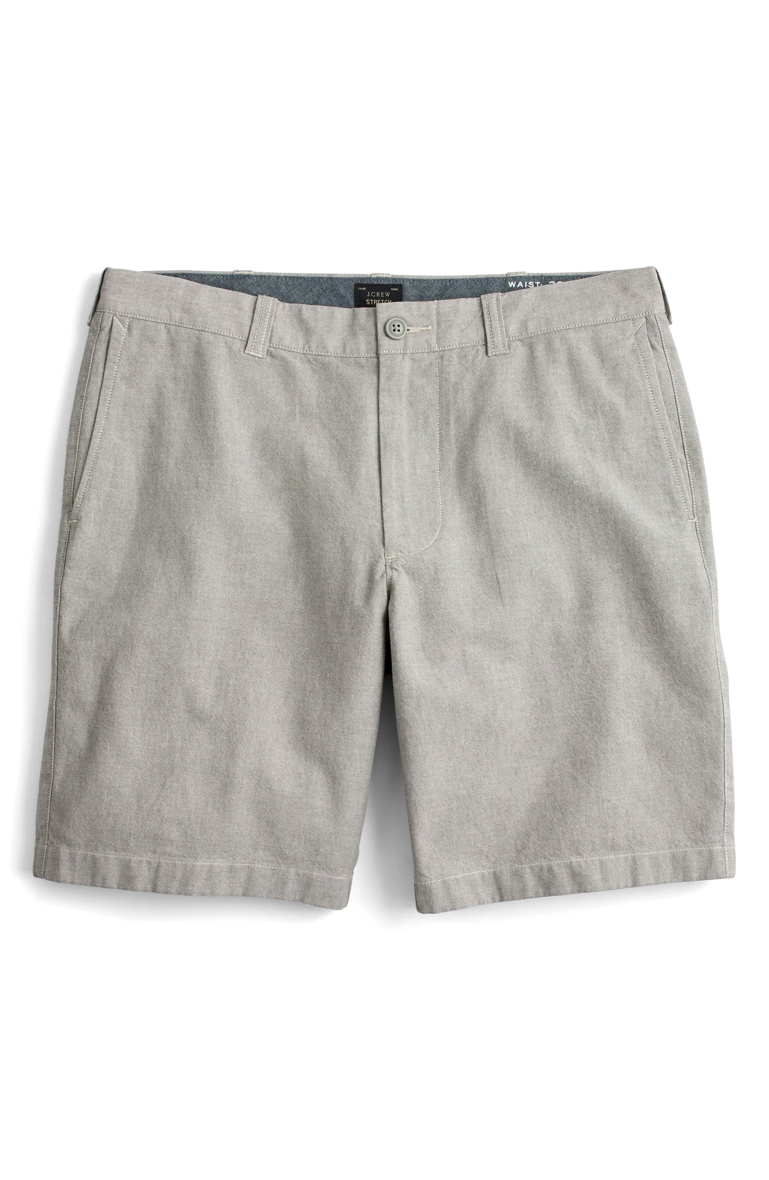 Stretch Chambray Shorts,                             Alternate thumbnail 4, color,                             020