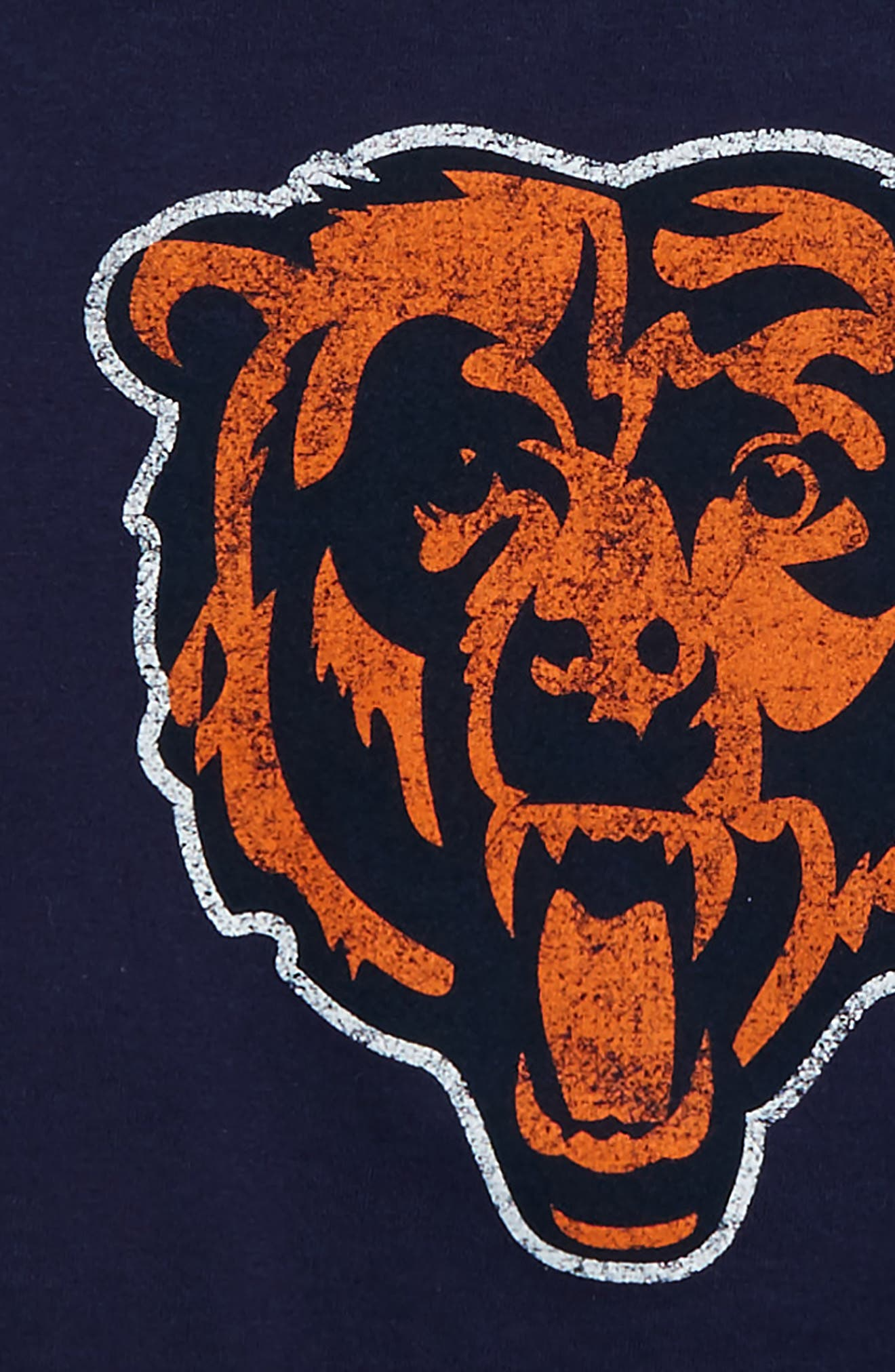 'NFL - Chicago Bears' Distressed Logo Graphic T-Shirt,                             Alternate thumbnail 3, color,                             410