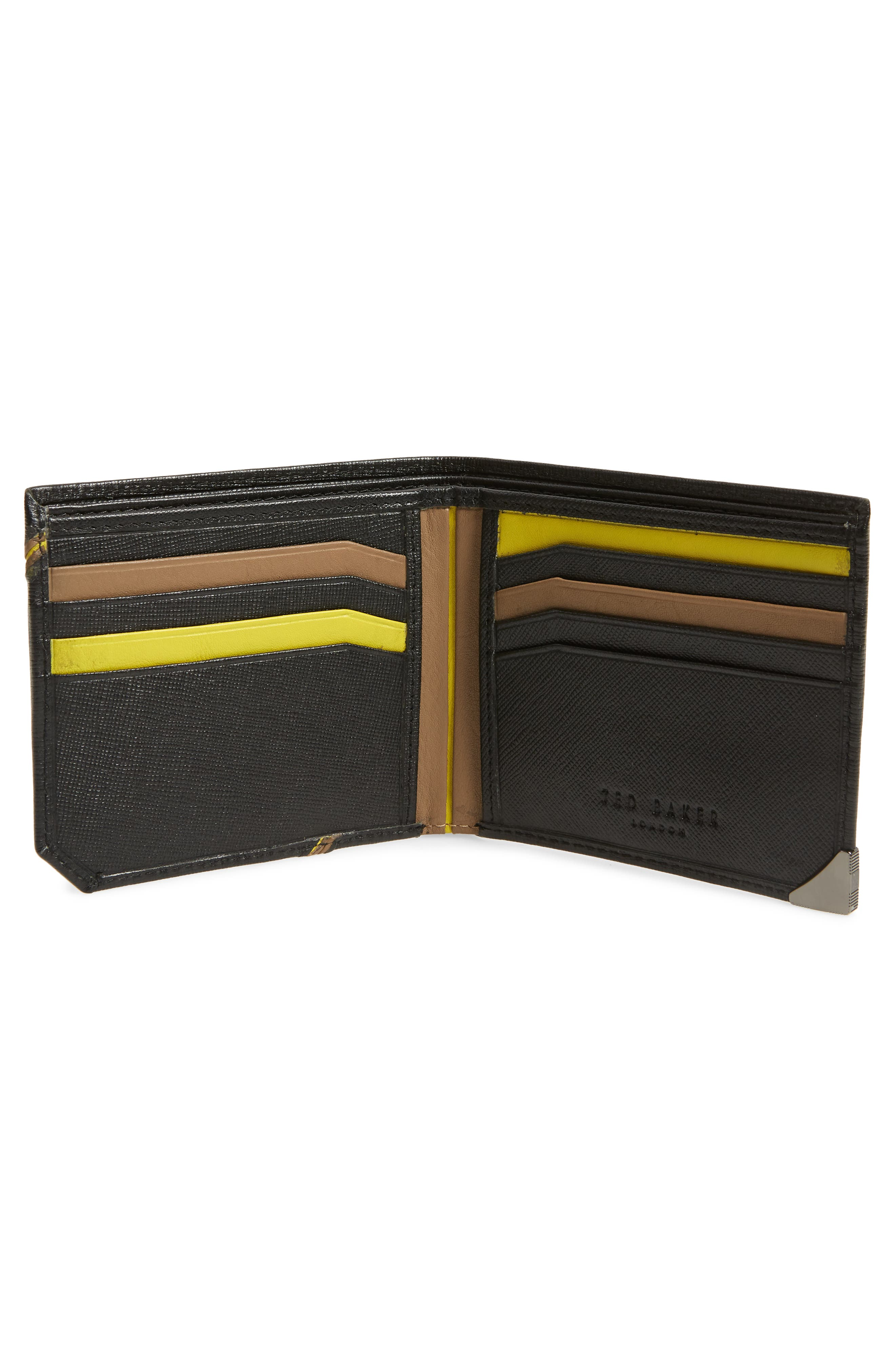 Dipps Leather Wallet,                             Alternate thumbnail 2, color,                             BLACK