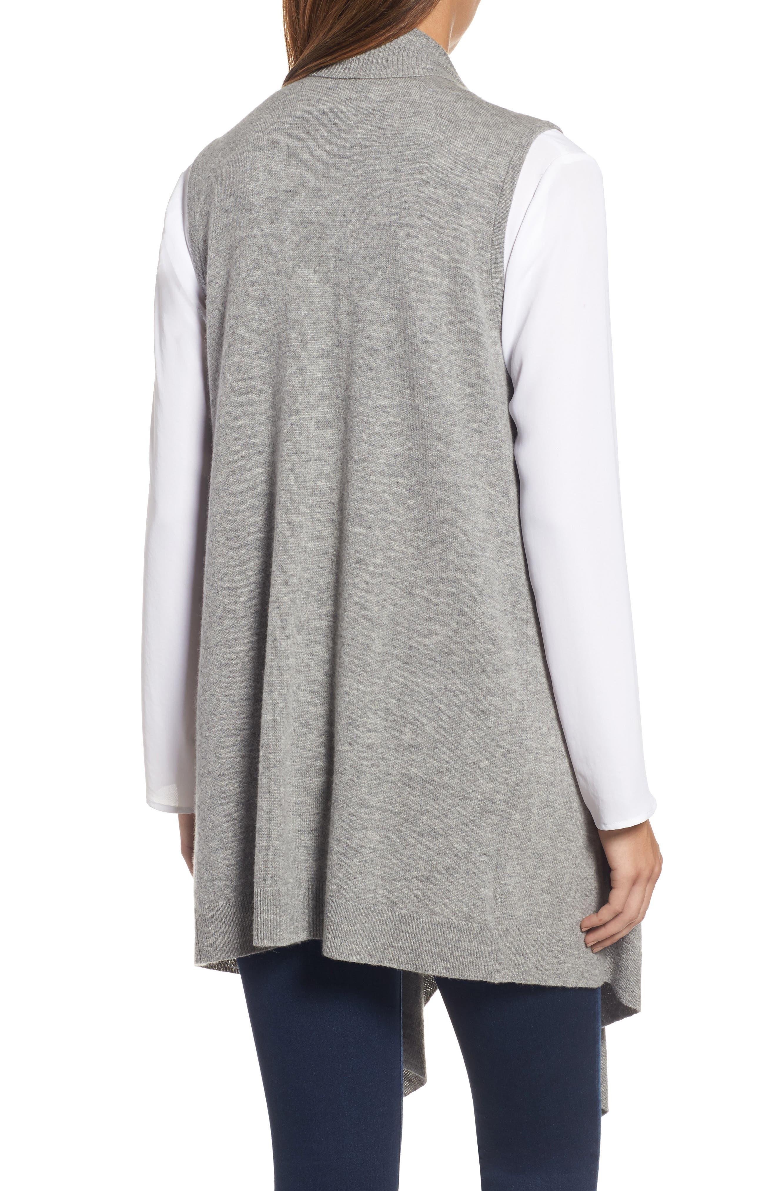 Wool & Cashmere Drape Front Sweater Vest,                             Alternate thumbnail 20, color,