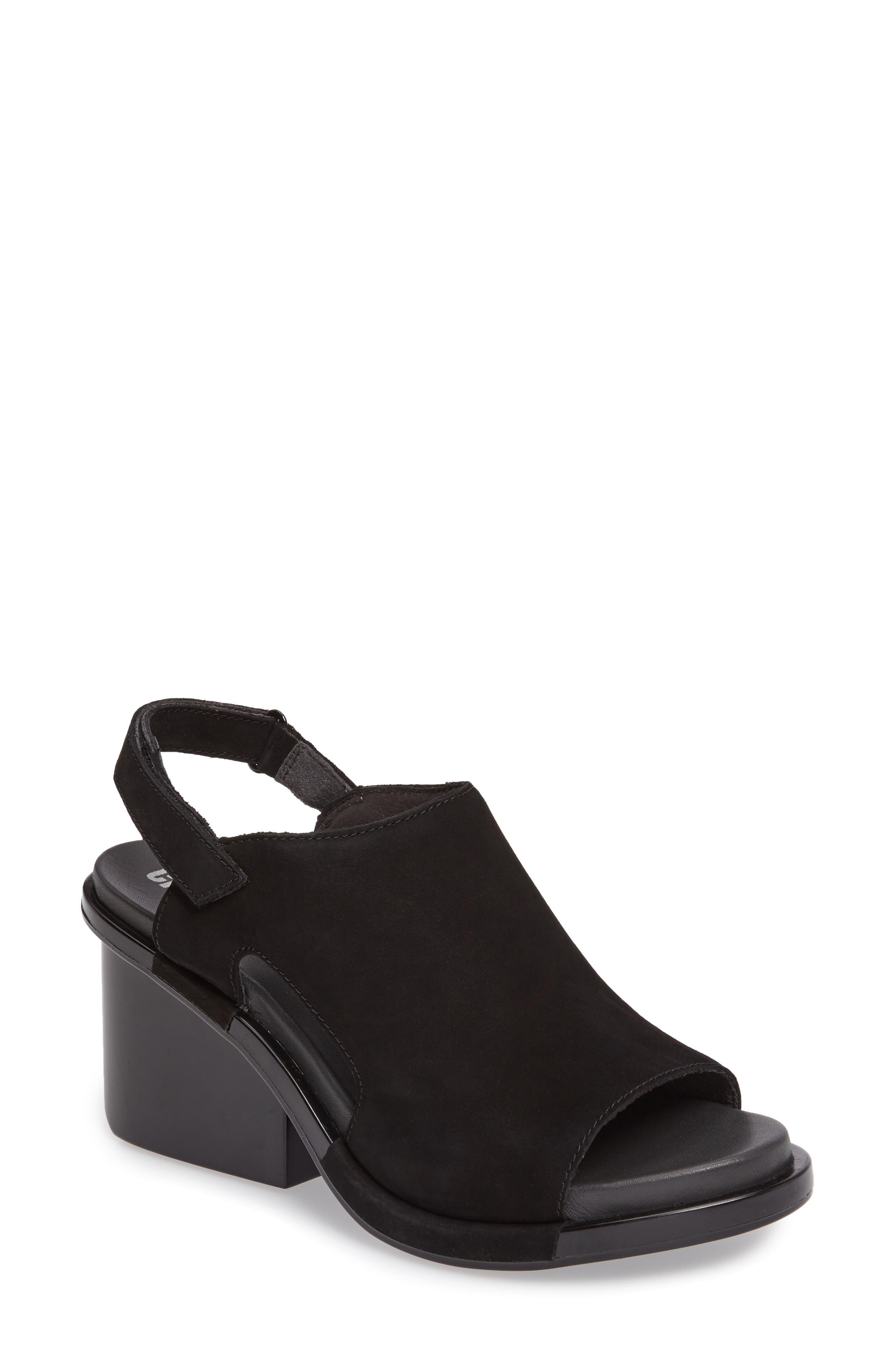 Ivy Slingback Sandal,                         Main,                         color, BLACK LEATHER