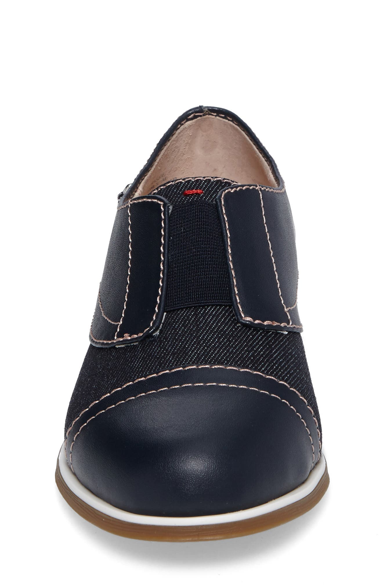Kassie Laceless Cap Toe Oxford,                             Alternate thumbnail 4, color,                             401
