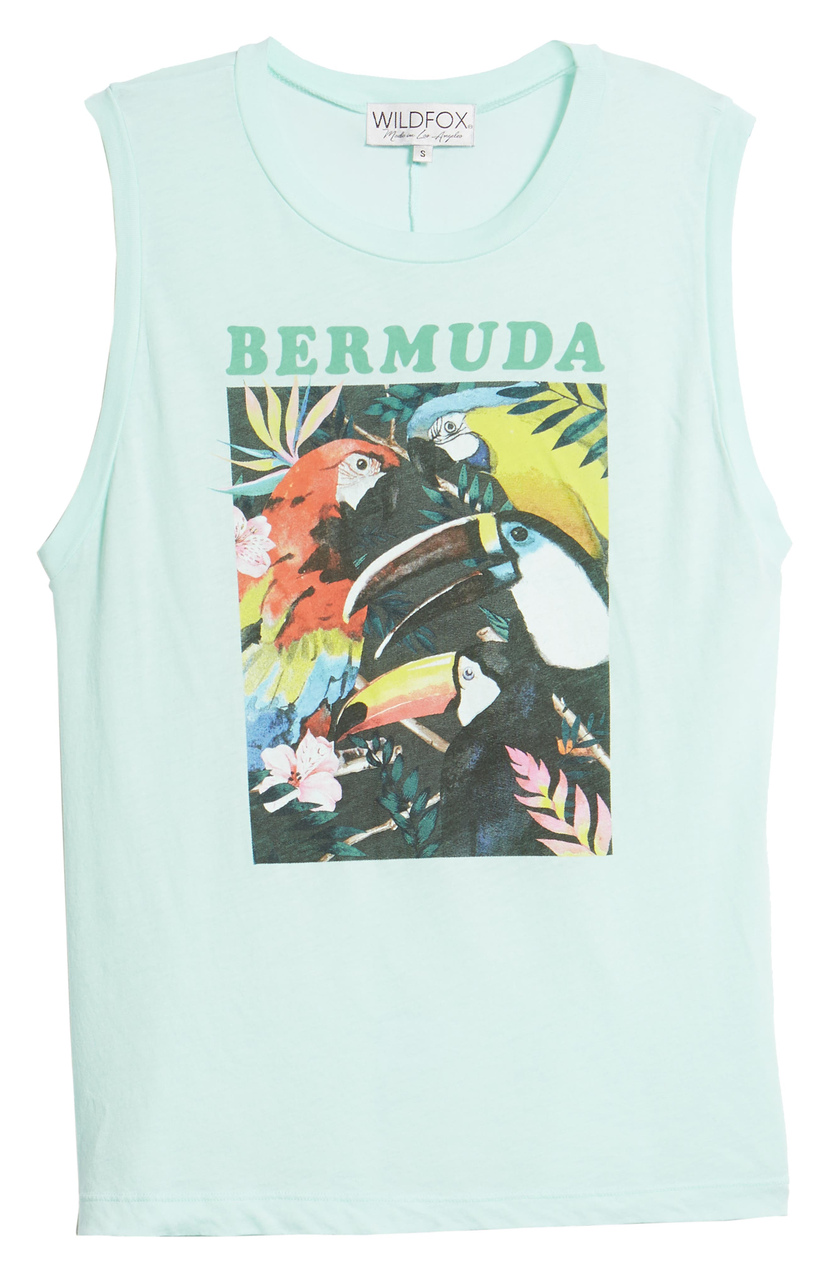 WILDFOX,                             Bermuda Vintage Muscle Tank,                             Alternate thumbnail 6, color,                             440