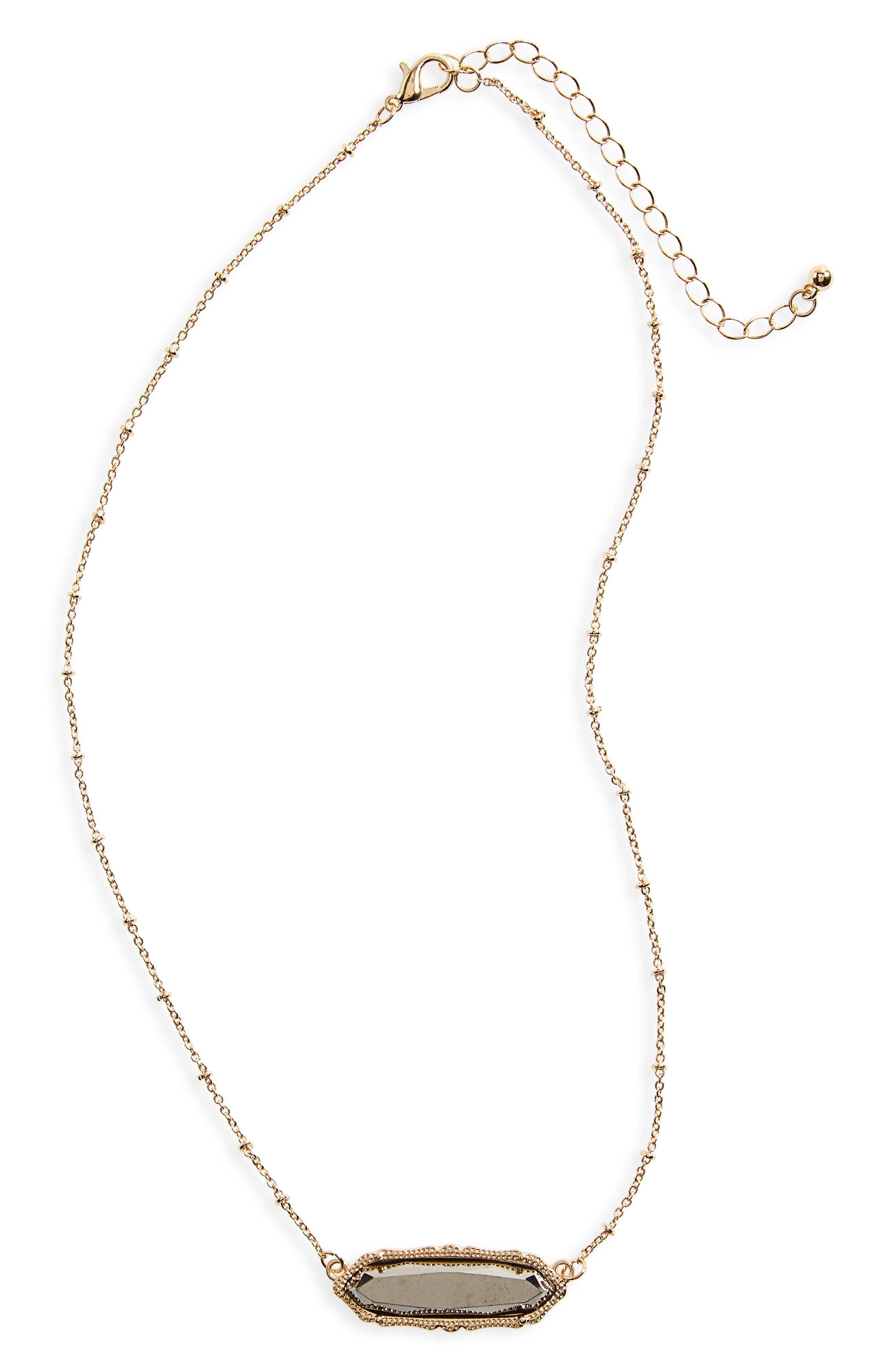 Stone Charm Necklace,                             Main thumbnail 2, color,