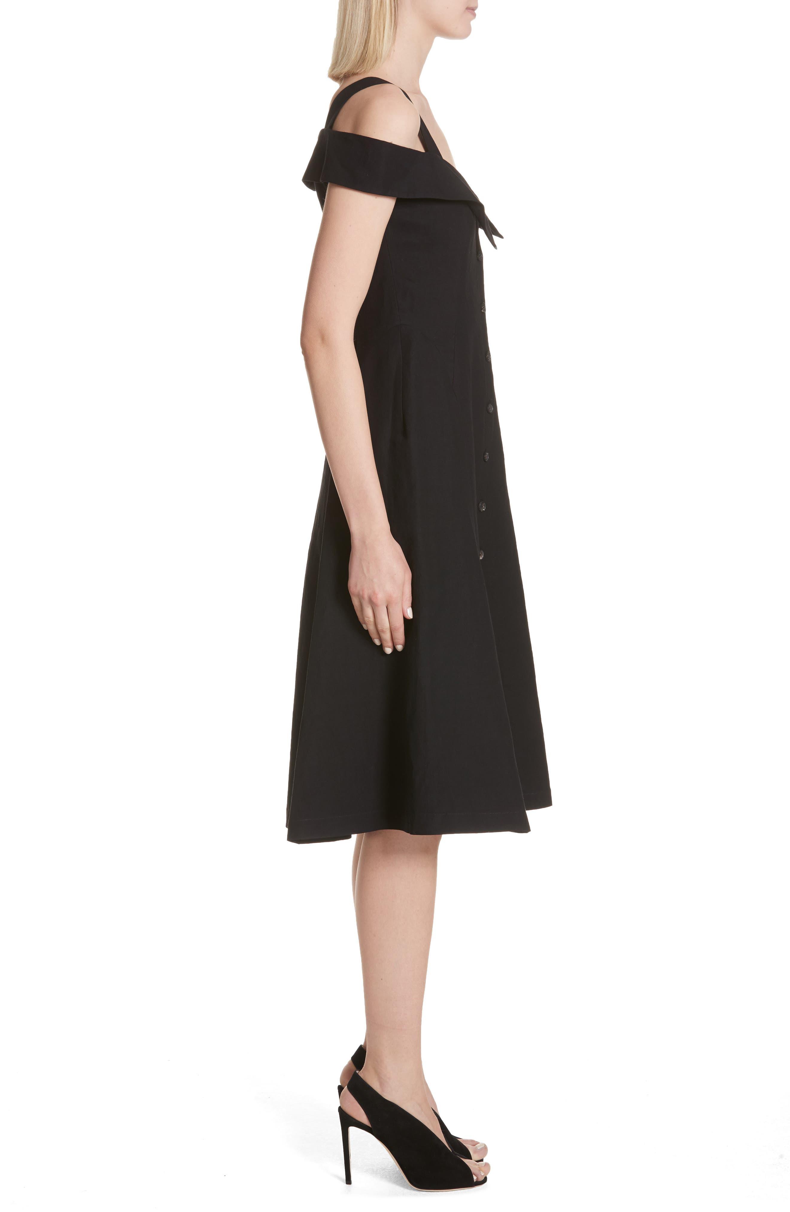 Hudson Cold Shoulder Dress,                             Alternate thumbnail 3, color,                             001