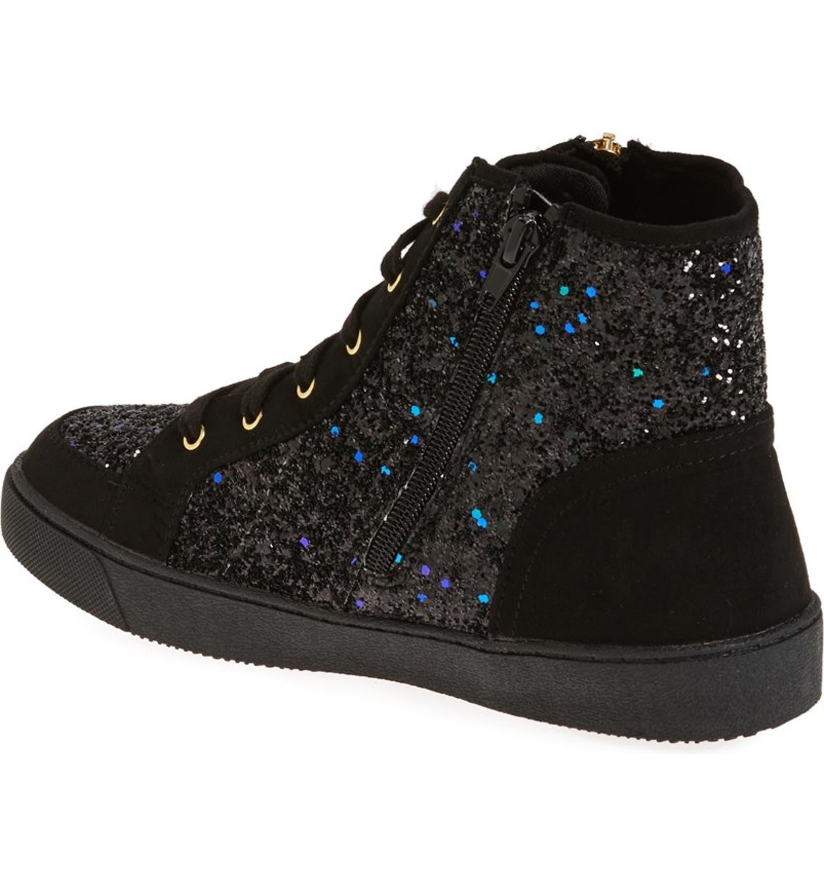 55b7ddada08164 Sam Edelman  Britt Roxy  Glittery High Top Sneaker (Toddler