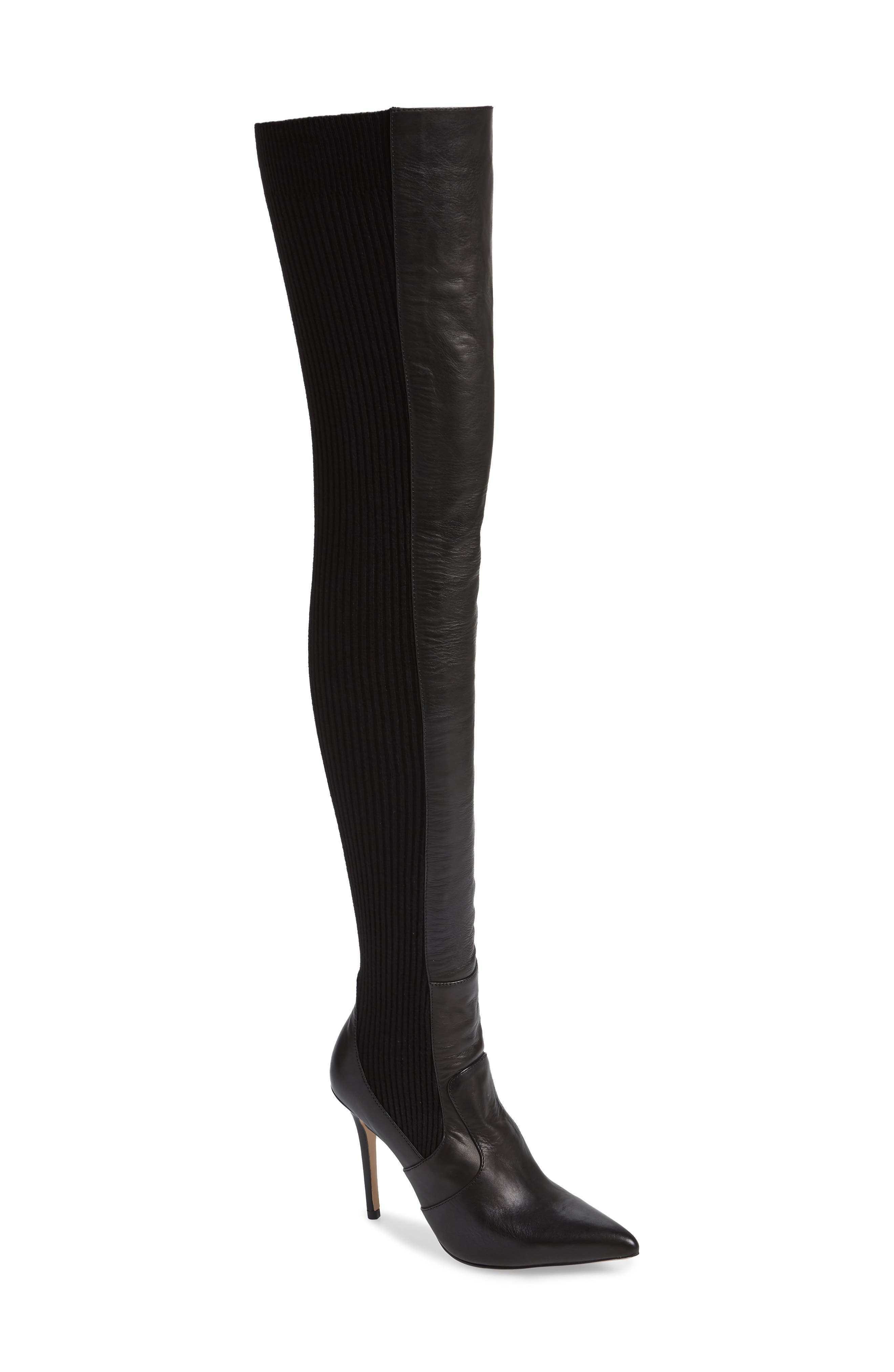 TONY BIANCO,                             Dahlia Over the Knee Boot,                             Main thumbnail 1, color,                             001