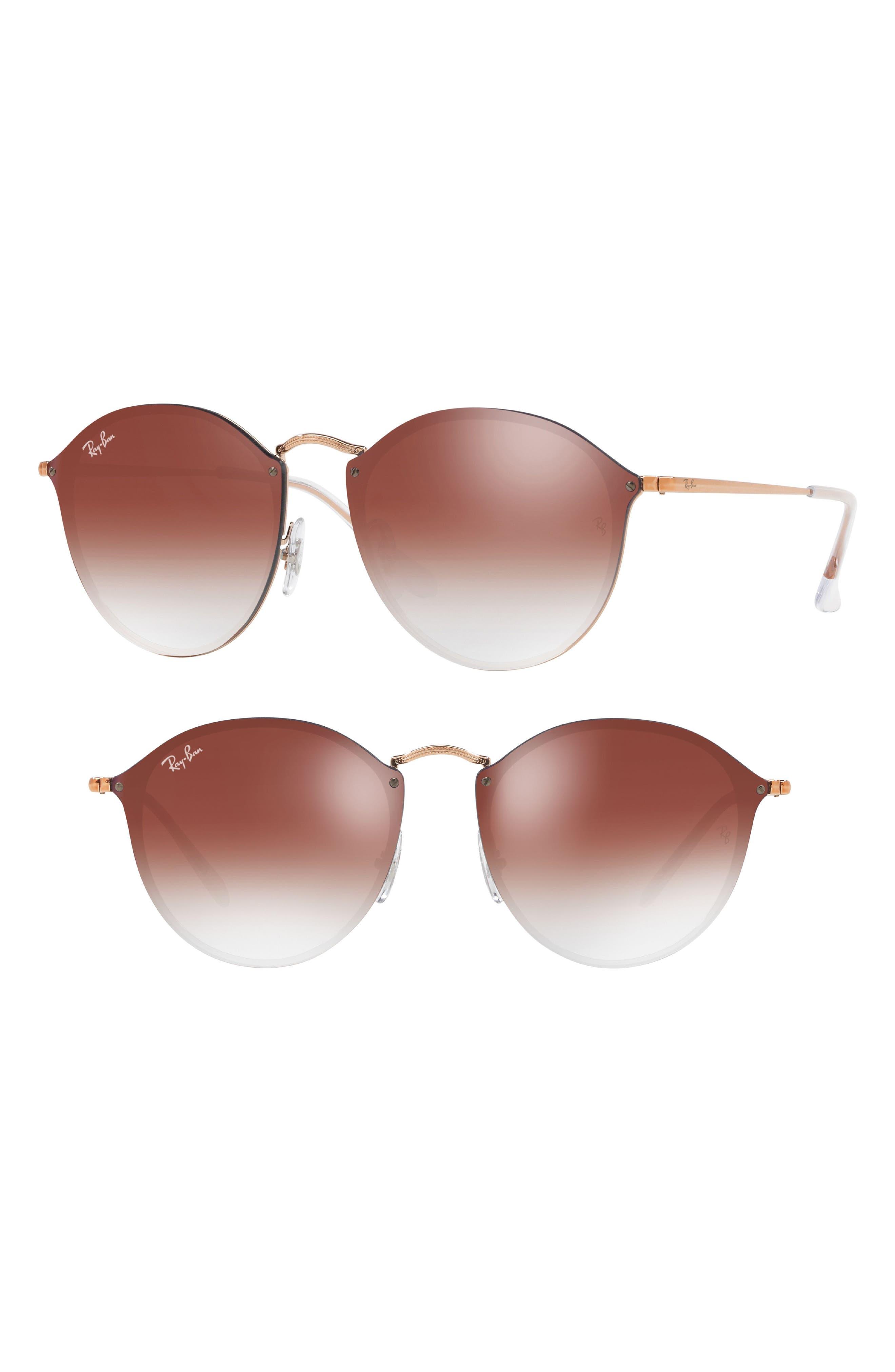 Blaze 59mm Round Mirrored Sunglasses,                             Main thumbnail 1, color,                             221