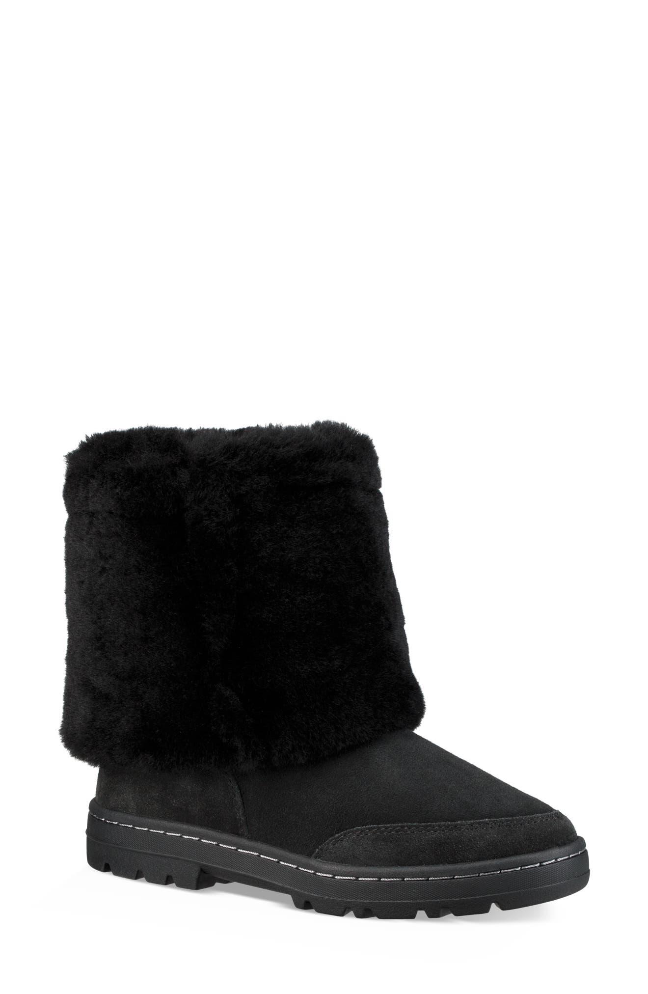 Sundance Revival Genuine Shearling Boot,                             Alternate thumbnail 8, color,                             BLACK