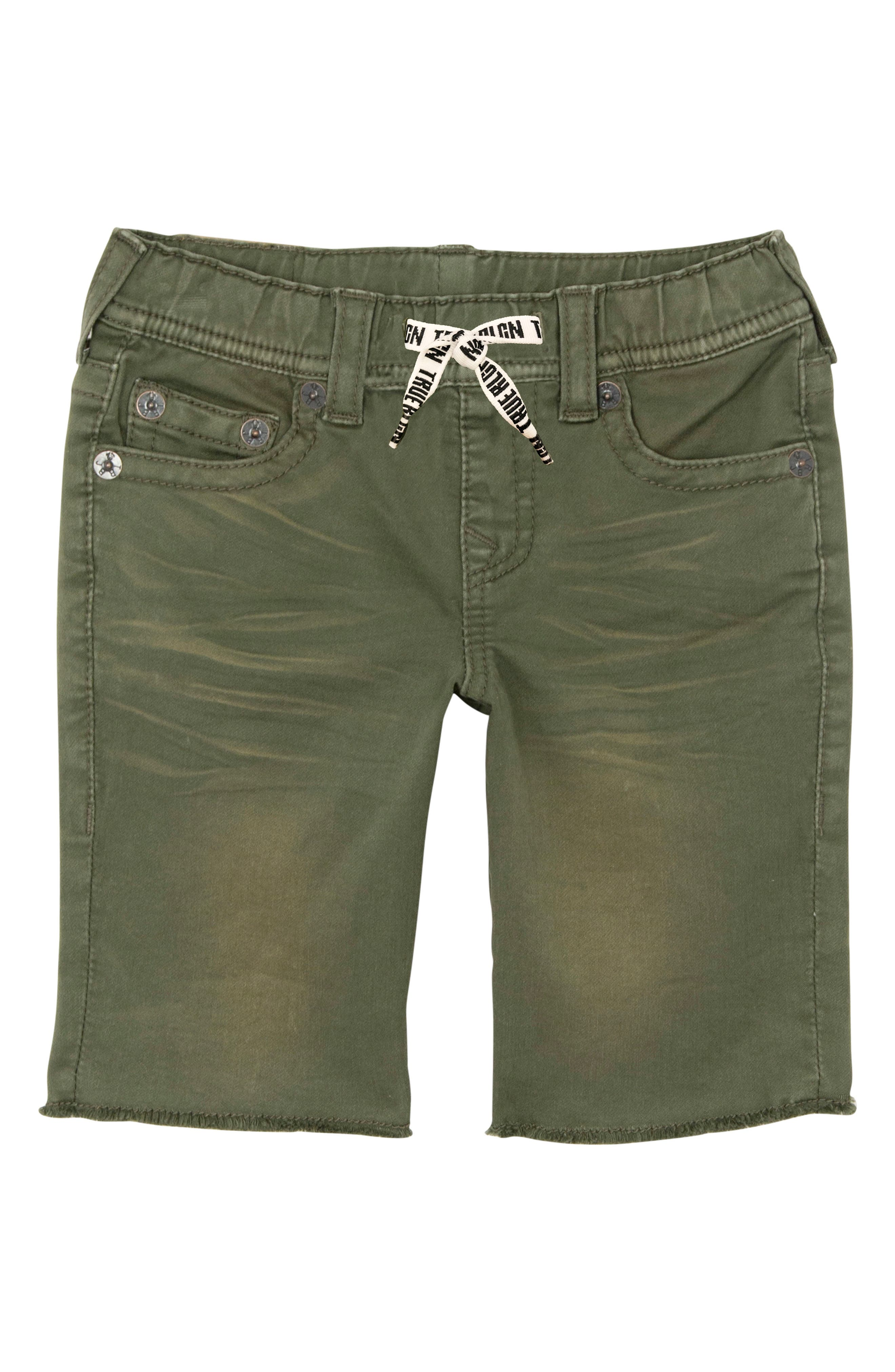 Geno French Terry Shorts,                         Main,                         color, OLIVE