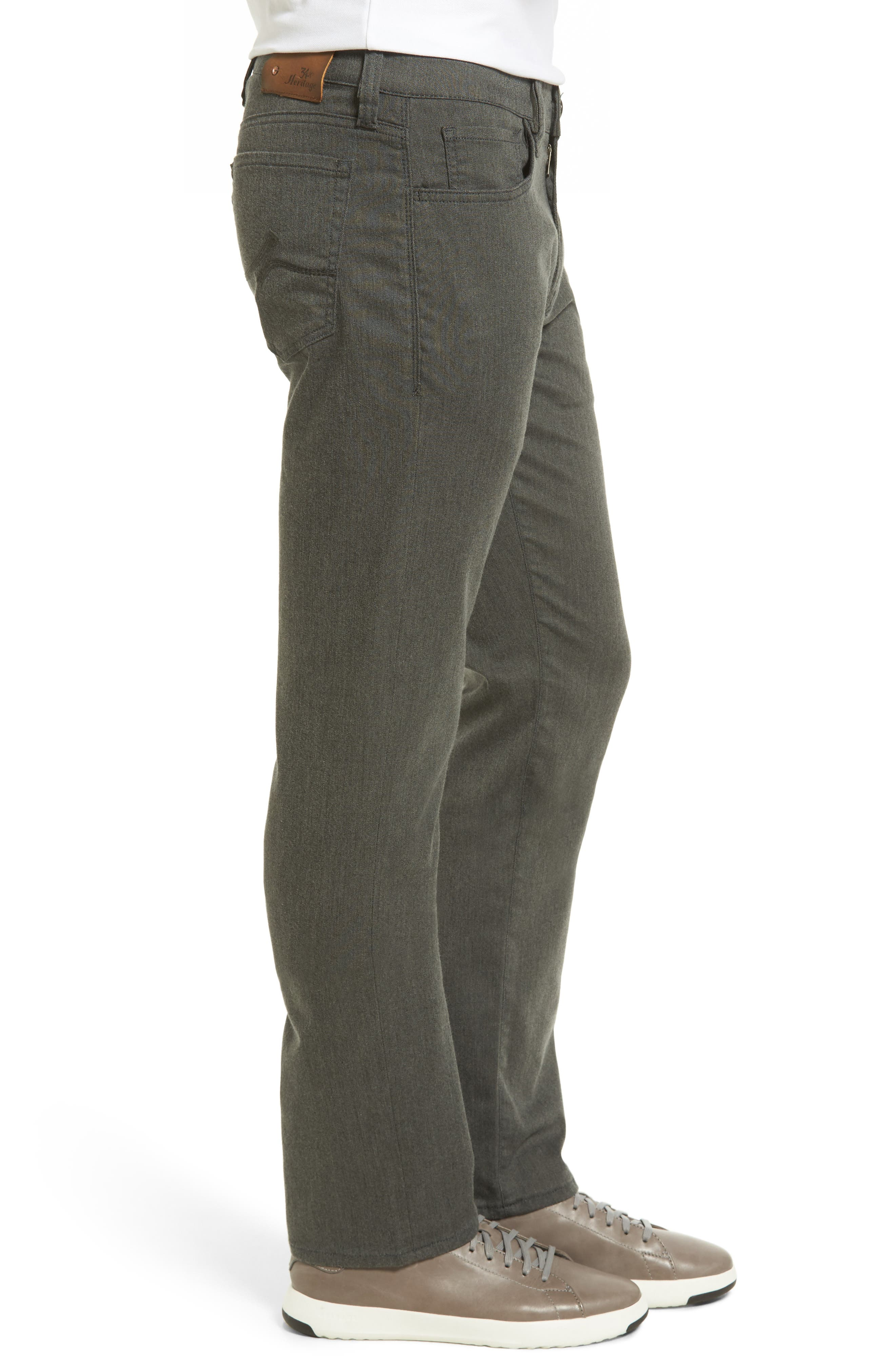 Courage Straight Leg Jeans,                             Alternate thumbnail 3, color,                             GREY LUXE