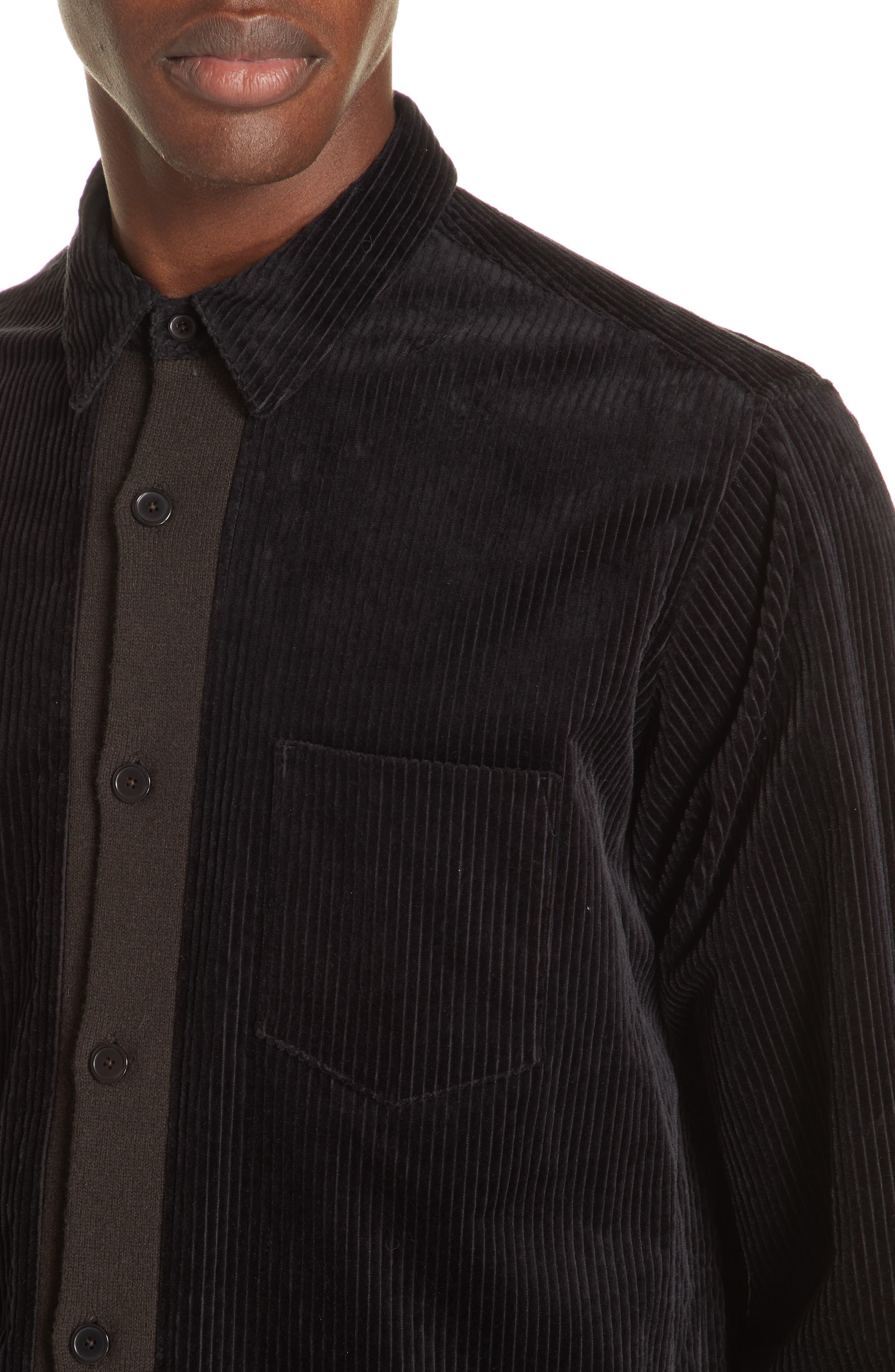TOMORROWLAND,                             Corduroy Shirt,                             Alternate thumbnail 2, color,                             001
