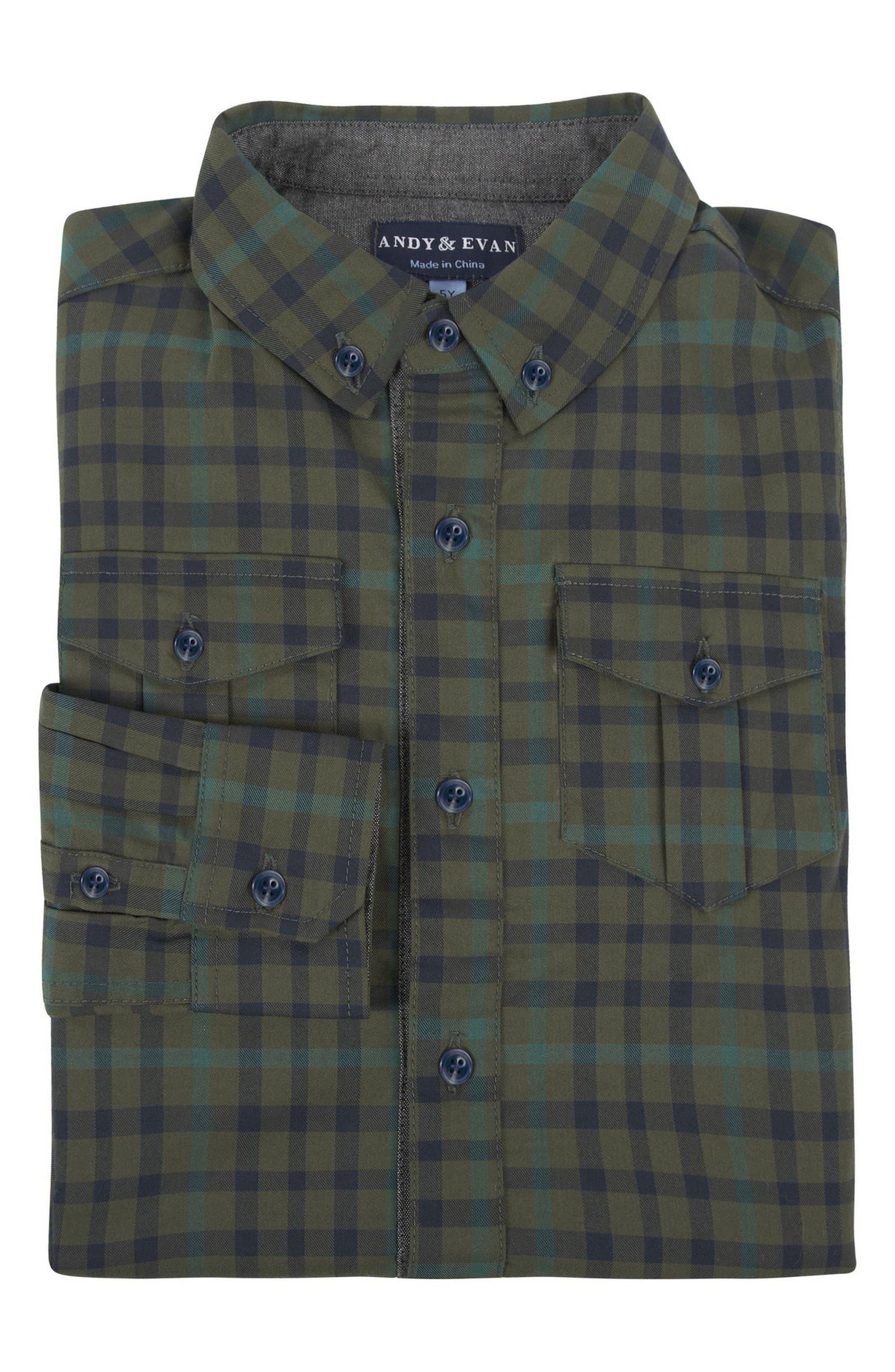 Plaid Shirtzie Bodysuit,                             Alternate thumbnail 3, color,